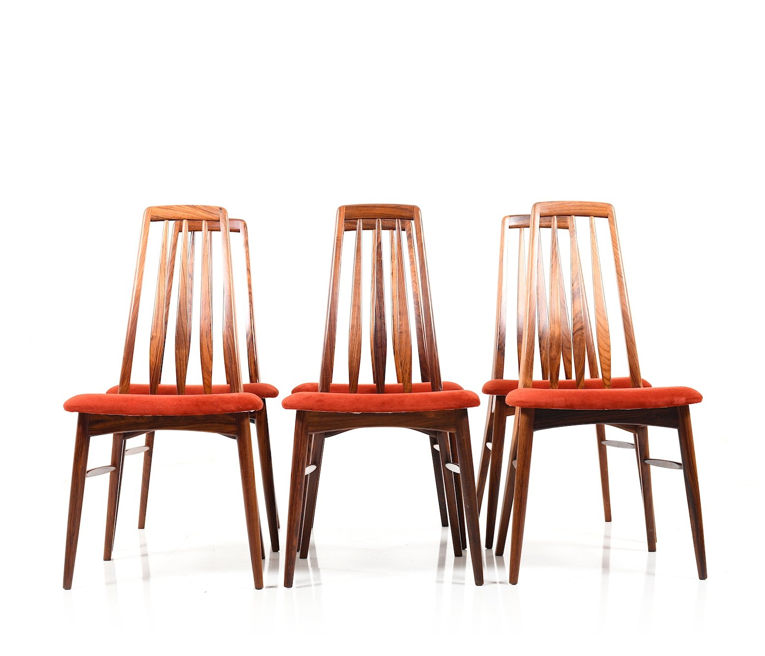 Groovy Set Of Six Rosewood Eva Dining Chairs By Niels Koefoed Creativecarmelina Interior Chair Design Creativecarmelinacom