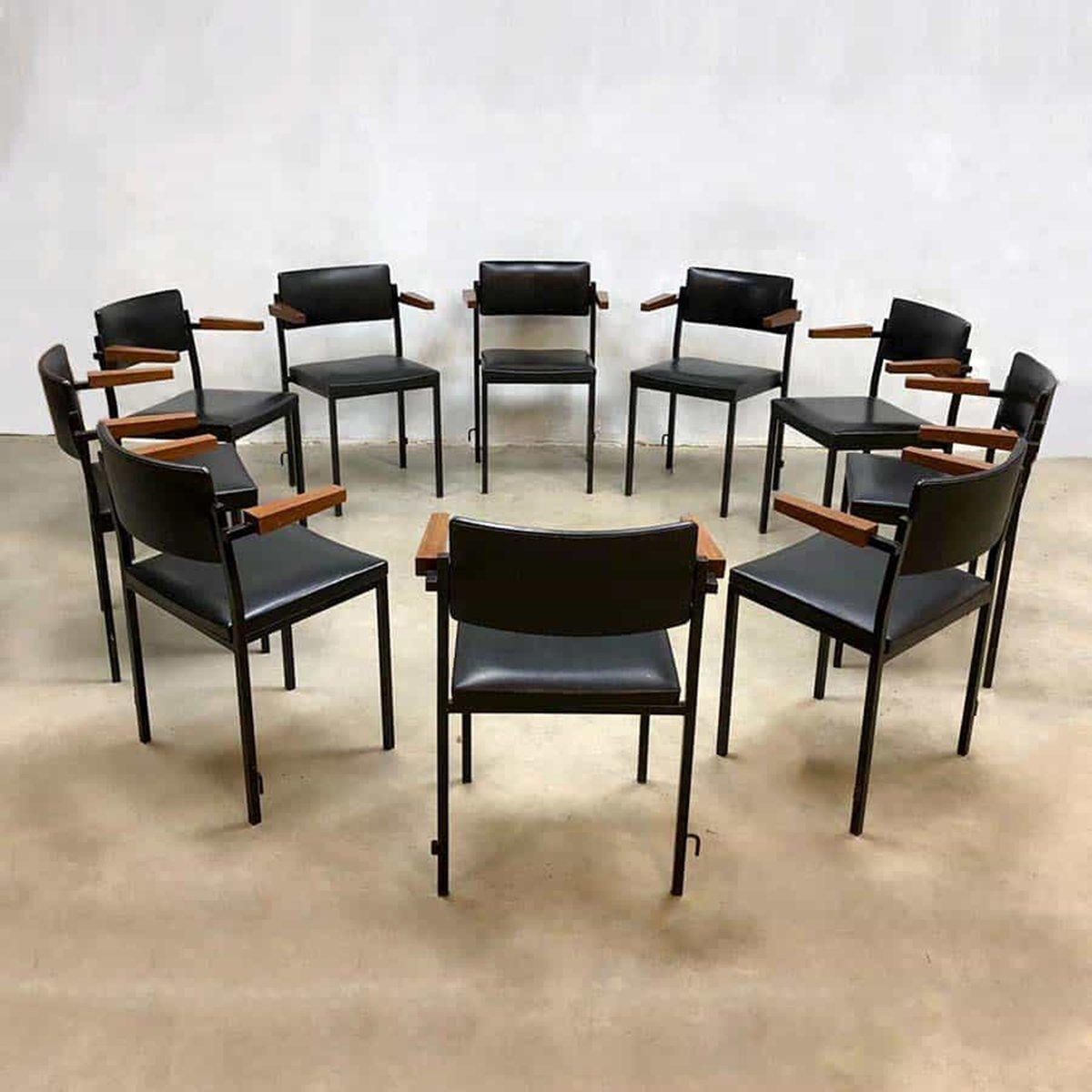 Pleasant 10 X Minimal Industrial Dining Chair 1960S 91480 Alphanode Cool Chair Designs And Ideas Alphanodeonline