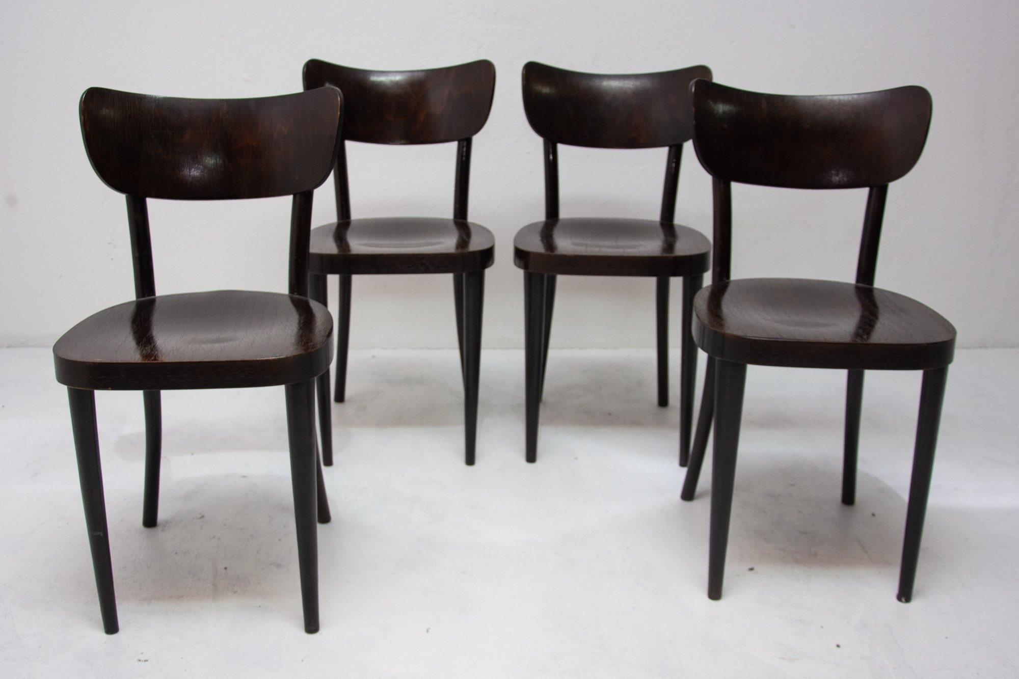 Mid Century Dining Chairs For Ton Czechoslovakia 1960s