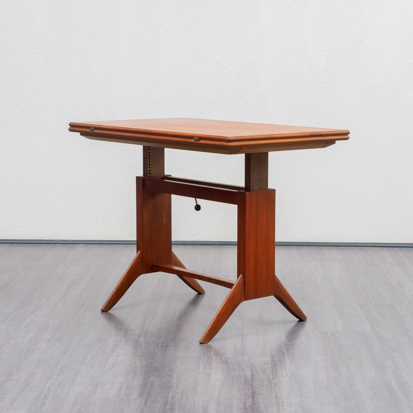 Picture of: Height Adjustable Extendable Teak Coffee Dining Table By Wilhelm Renz 1950s 92094