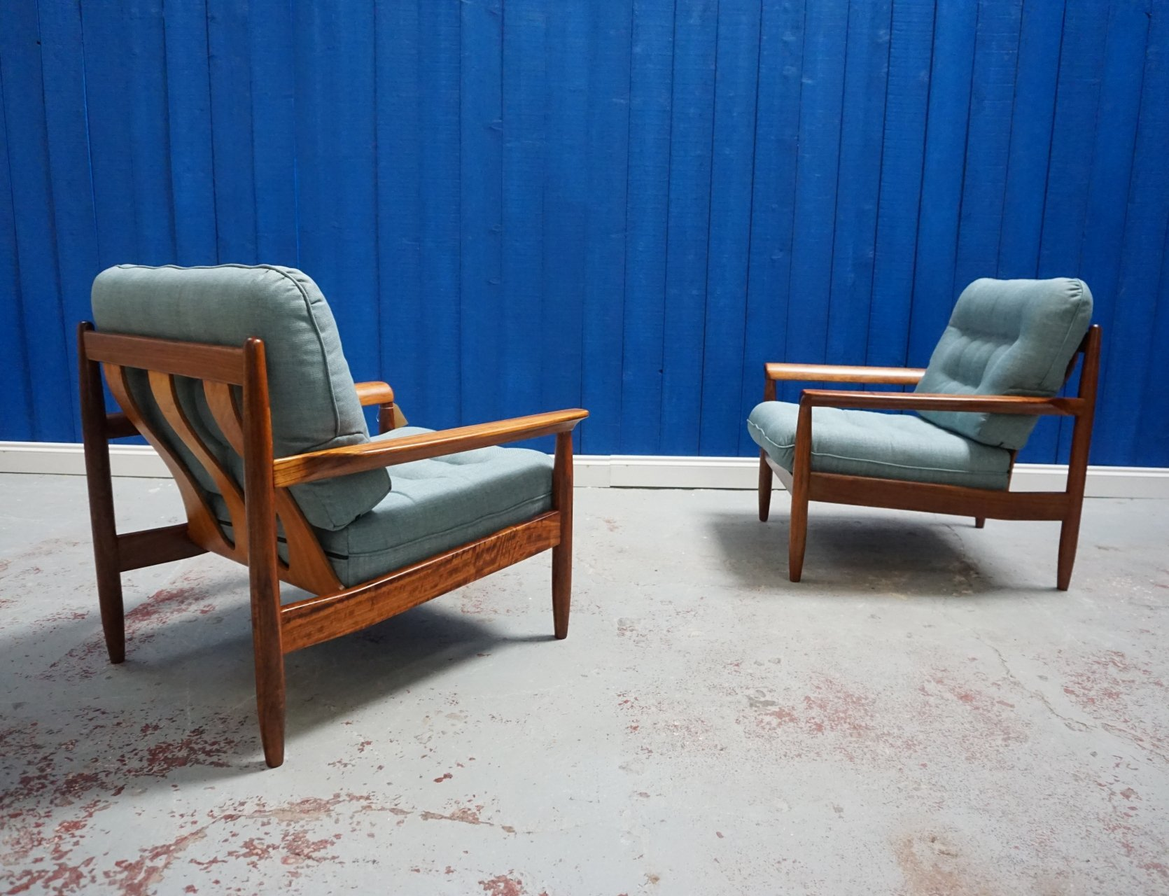 pair of mid century modern danish teak armchair​s 1960s