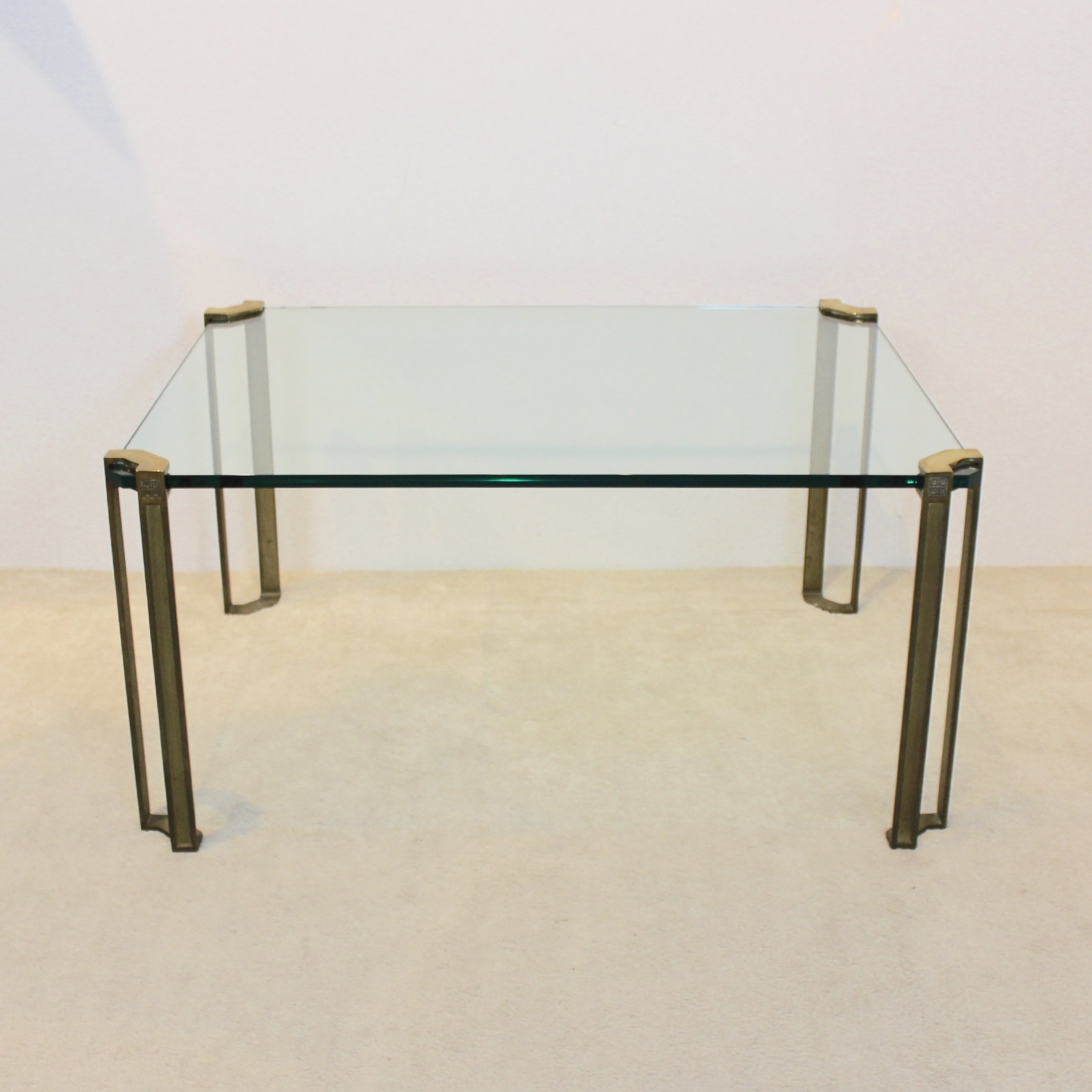 Peter Ghyczy Brass Glass Coffee Table 93205