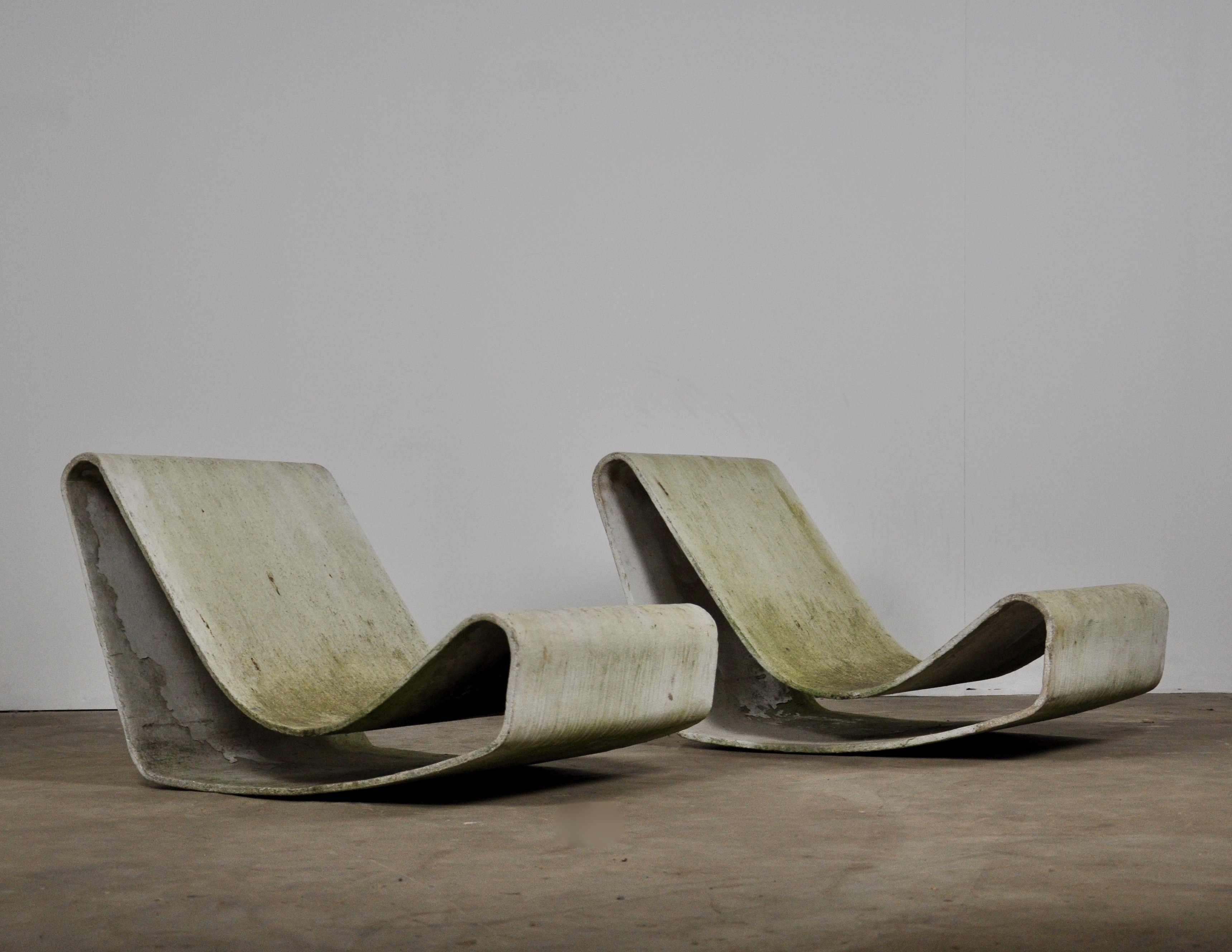Brilliant Set Of 2 Loop Lounge Chairs By Willy Guhl For Eternit Sa Customarchery Wood Chair Design Ideas Customarcherynet