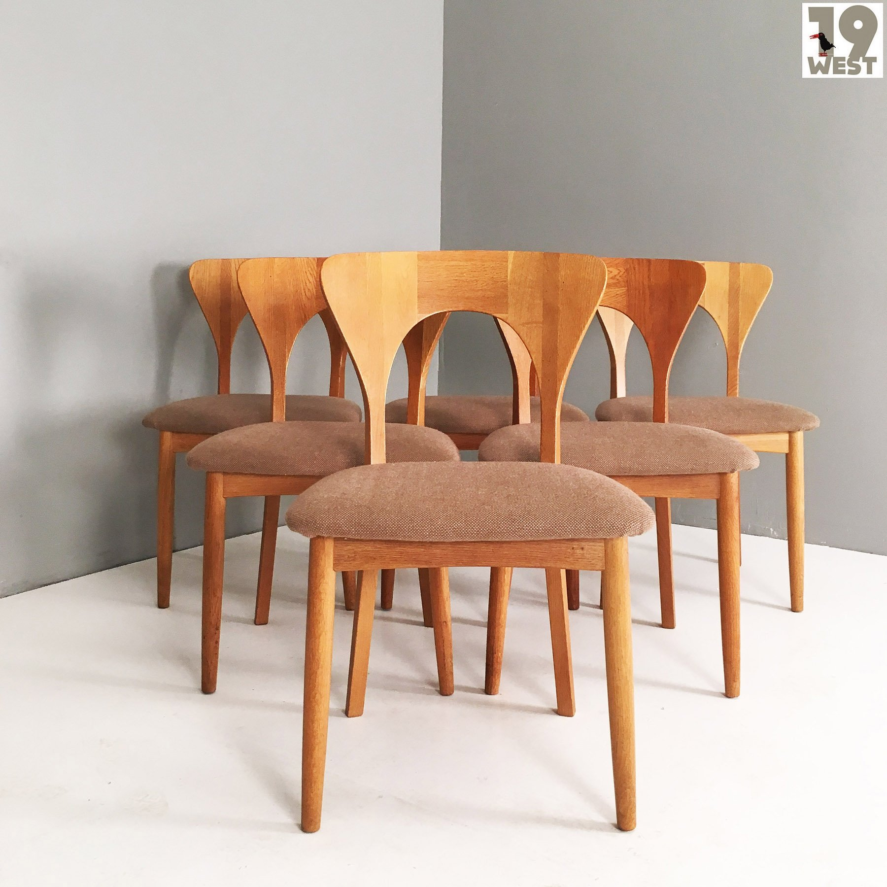 Admirable Set Of Six Danish Oak Dining Chairs By Kofoeds Hornslet Caraccident5 Cool Chair Designs And Ideas Caraccident5Info