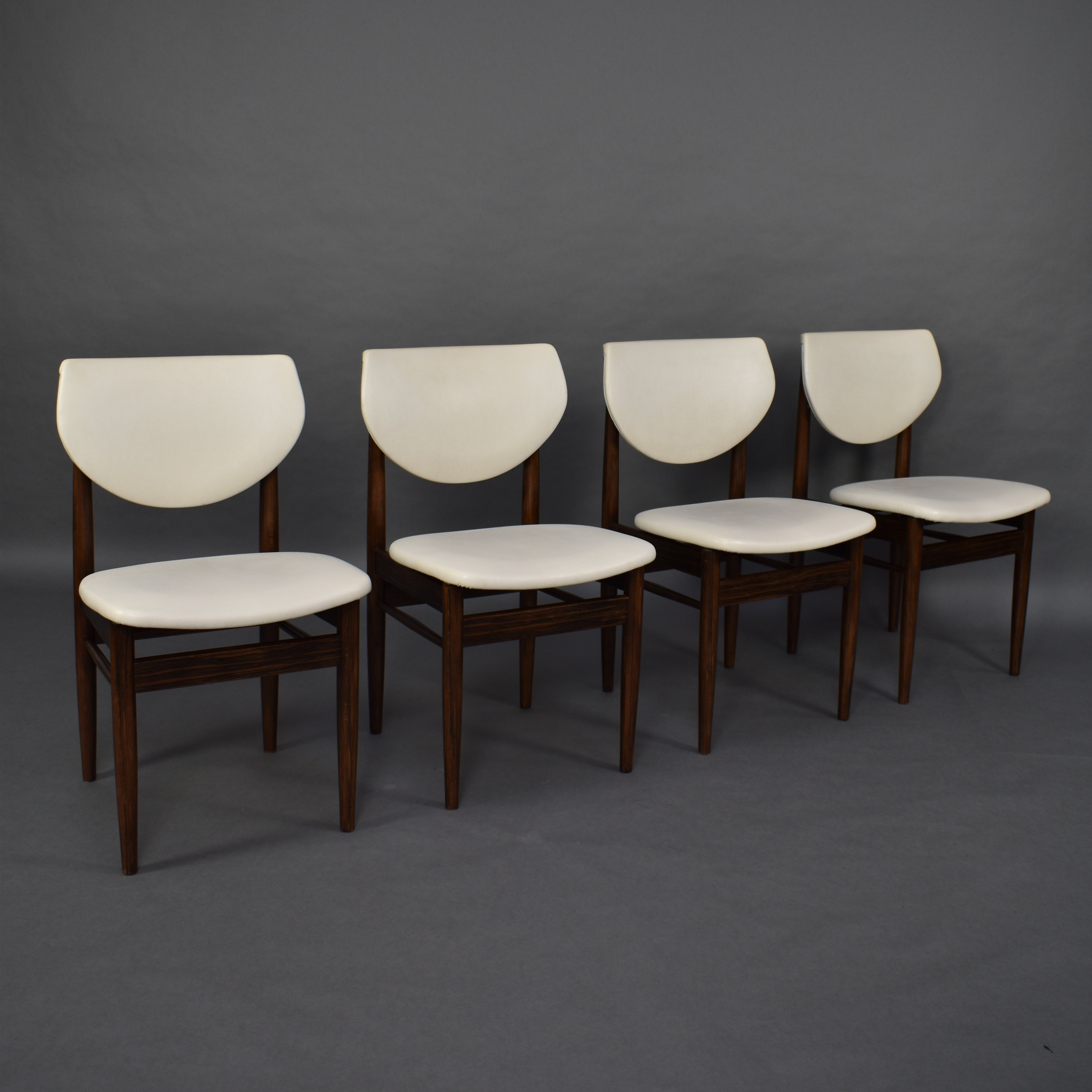 Outstanding Set Of 4 Wenge Dining Chairs Circa 1950 60S 94219 Lamtechconsult Wood Chair Design Ideas Lamtechconsultcom