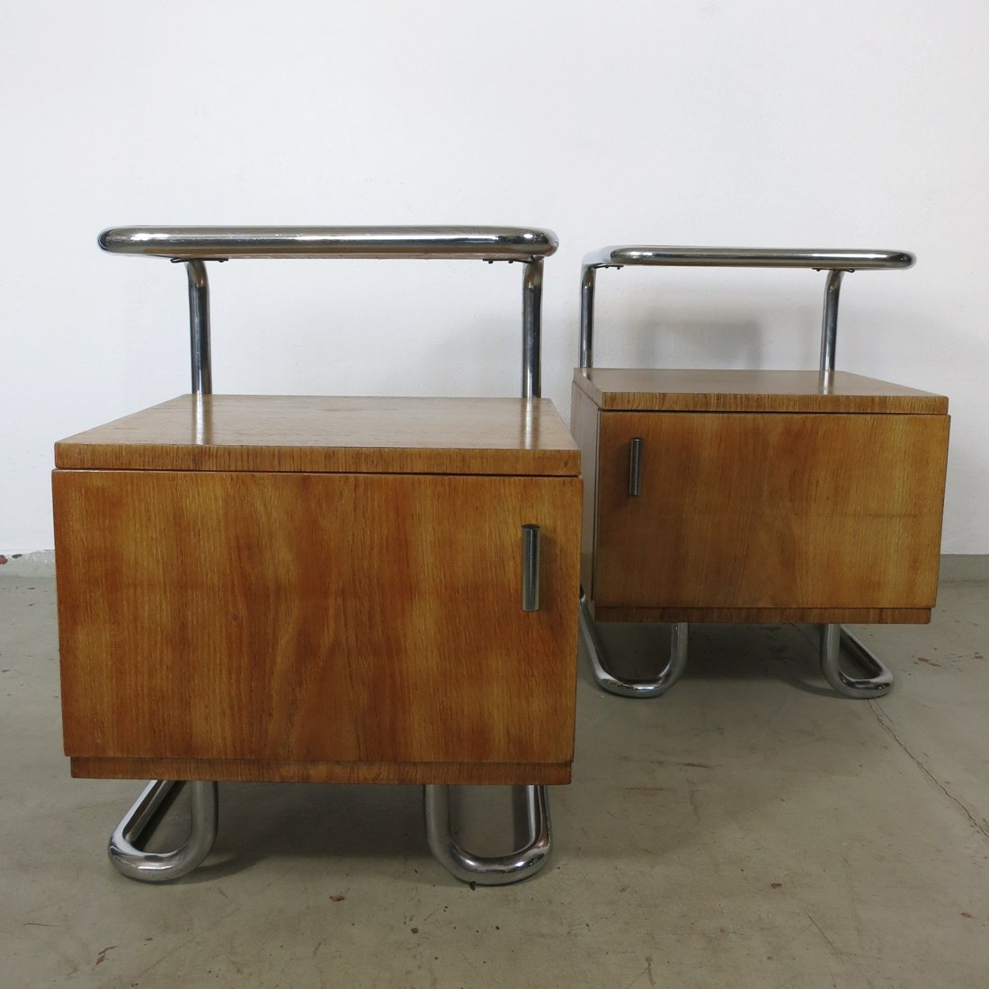 Set Of Two Bedside Tables By Kovona Karviná Czech Republic 1950s 94945