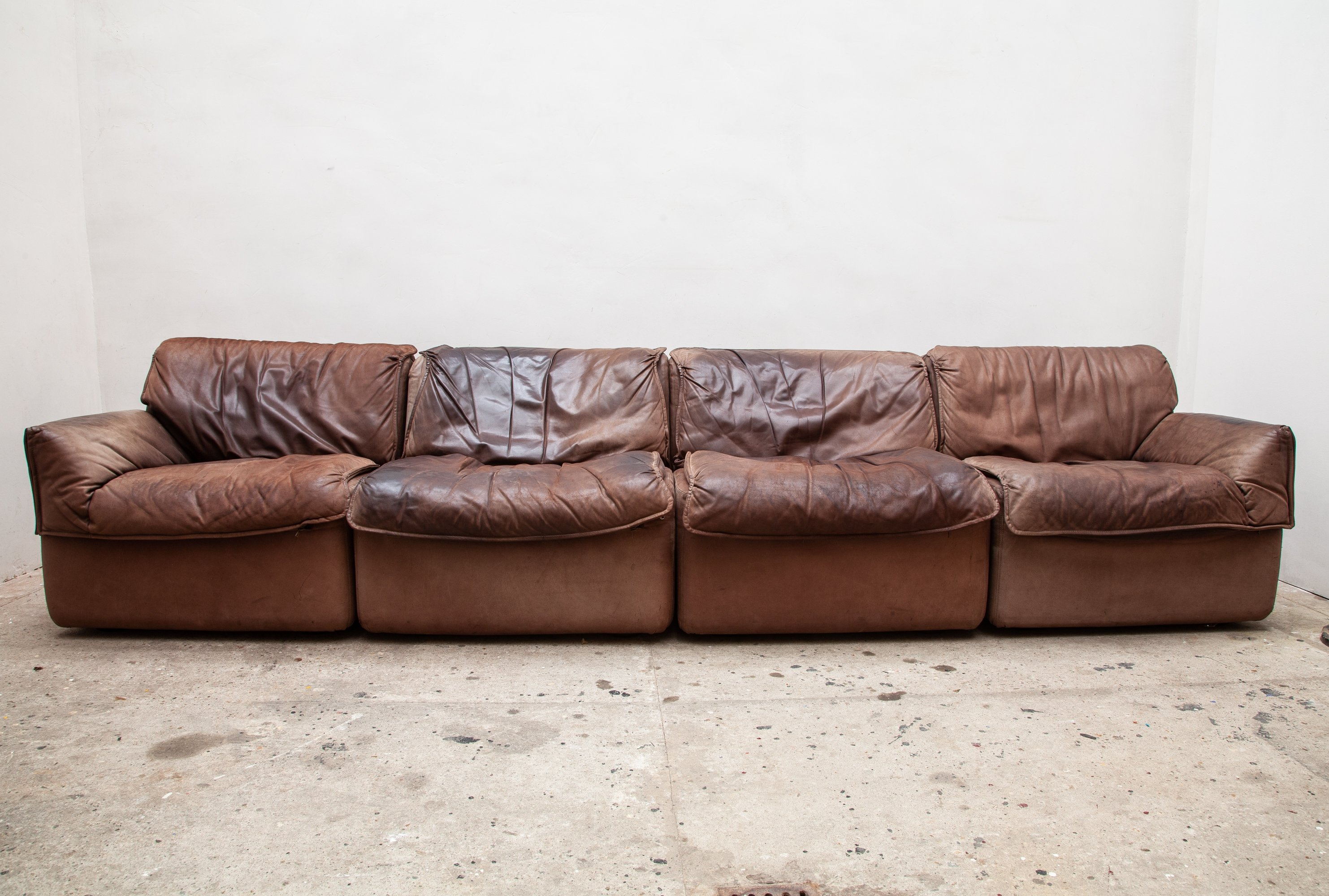 Super Brown Leather Modular Sectional Sofa By Cor Germany 1970S Forskolin Free Trial Chair Design Images Forskolin Free Trialorg