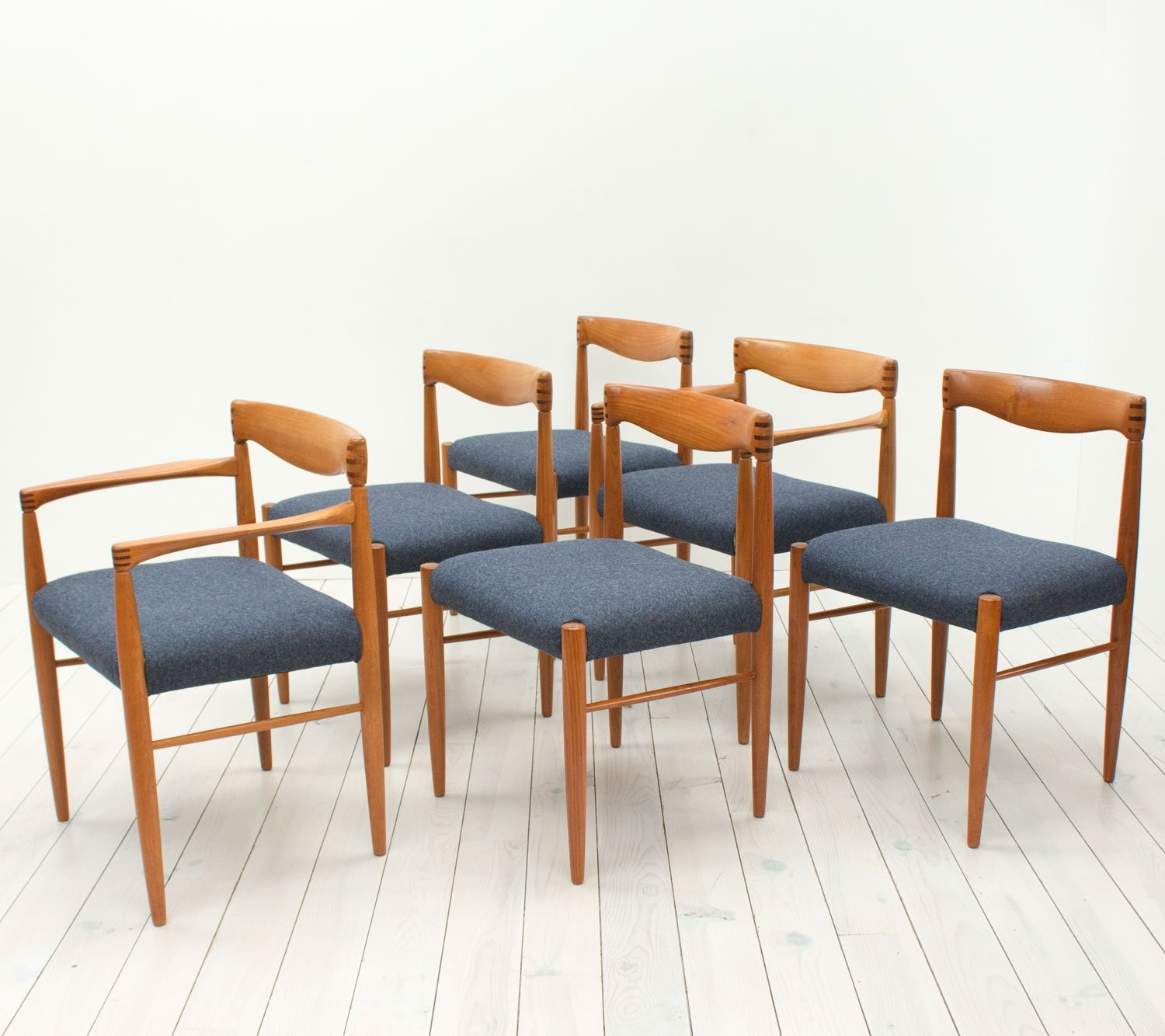 Set Of 6 Danish Teak Dining Chairs By H W Klein For Bramin 1960s 96317