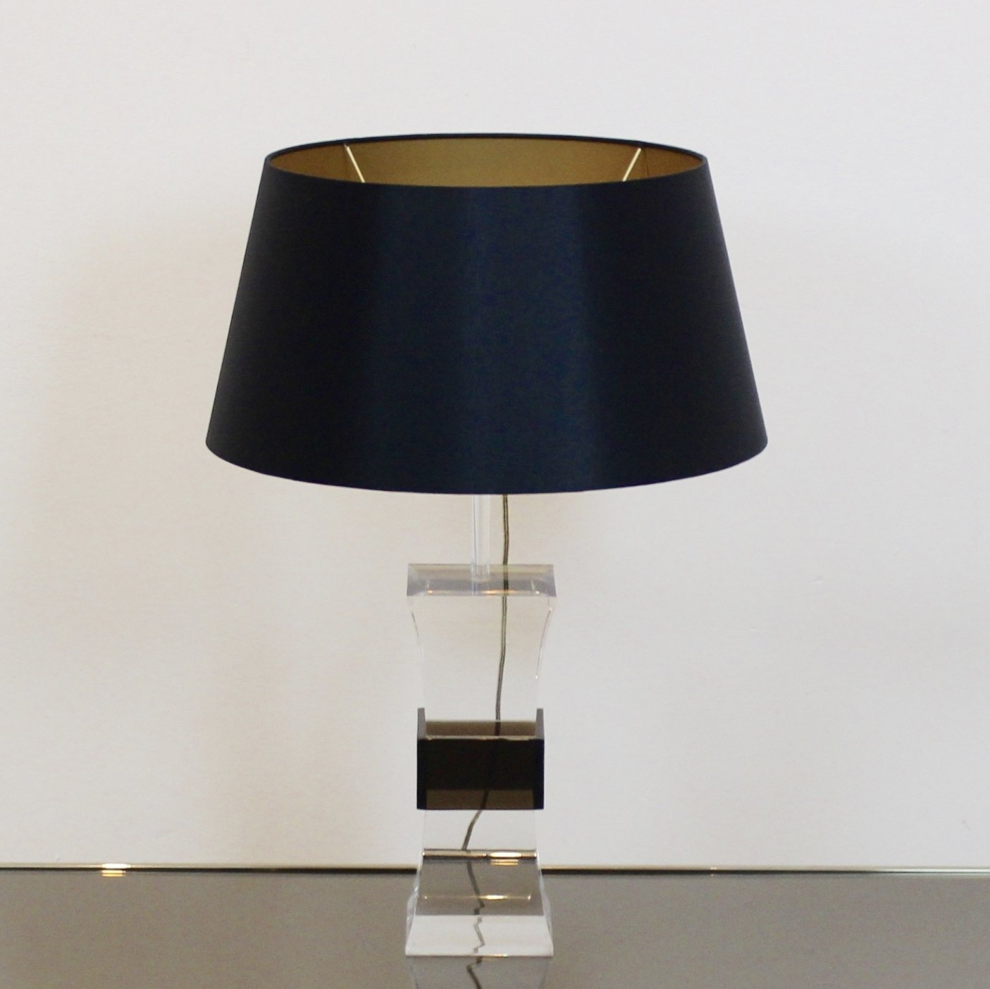 Mid Century Modern Two Color Lucite Table Lamp France 1970s
