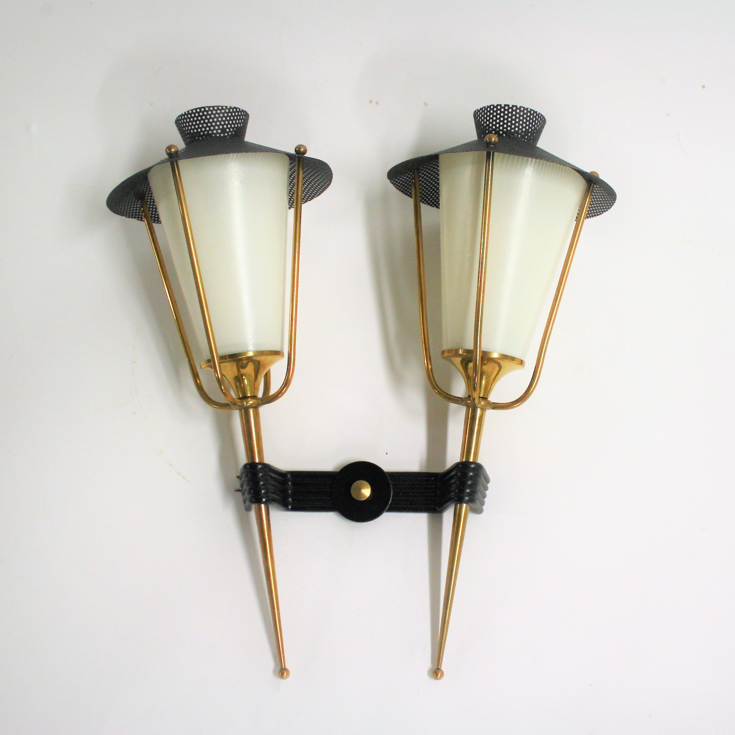 Vintage wall sconce by maison arlus 1950s