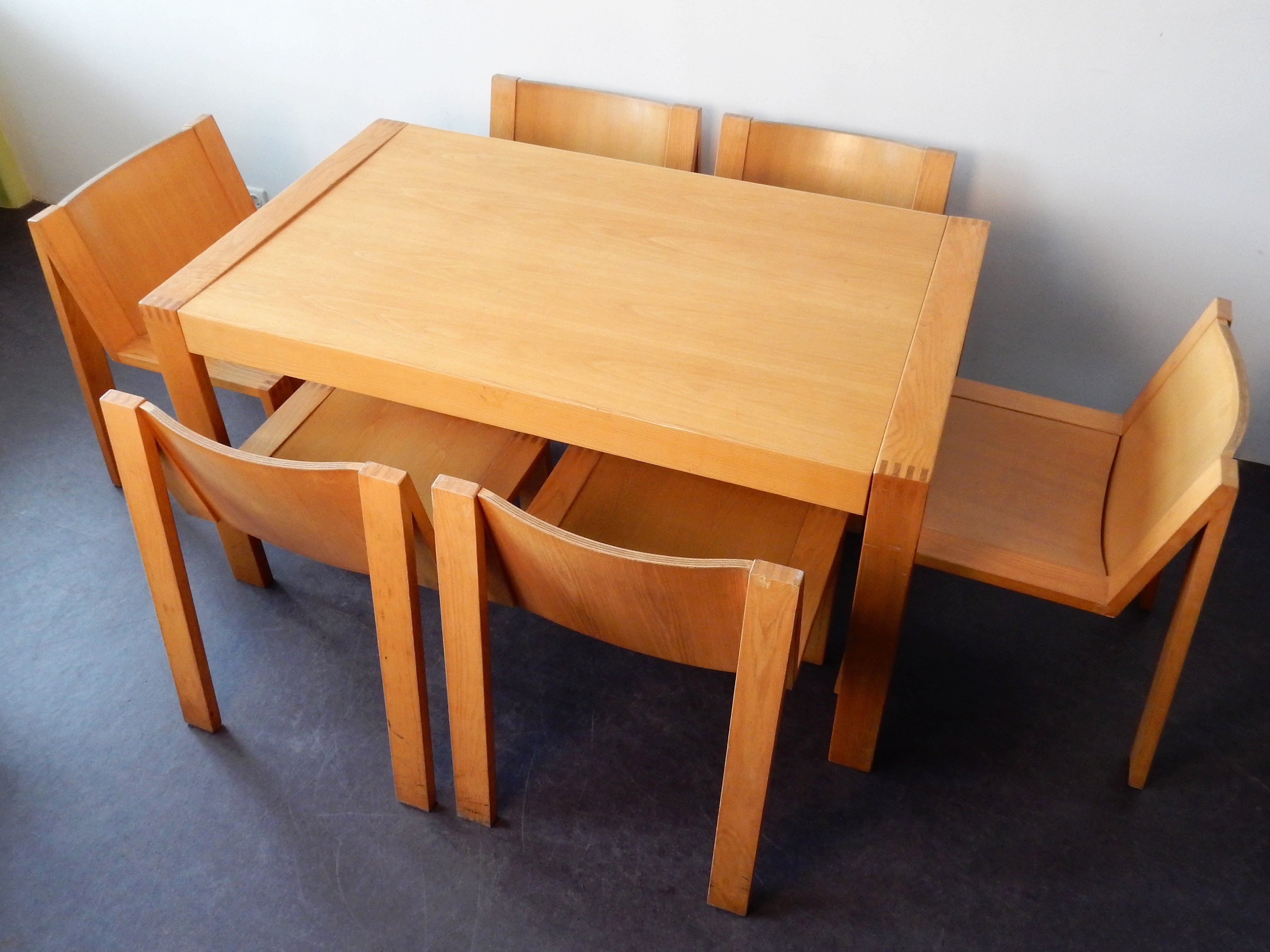 Se15 Extentable Dining Table With 8 Chairs By Mazairac Boonzaaijer For Pastoe 97991