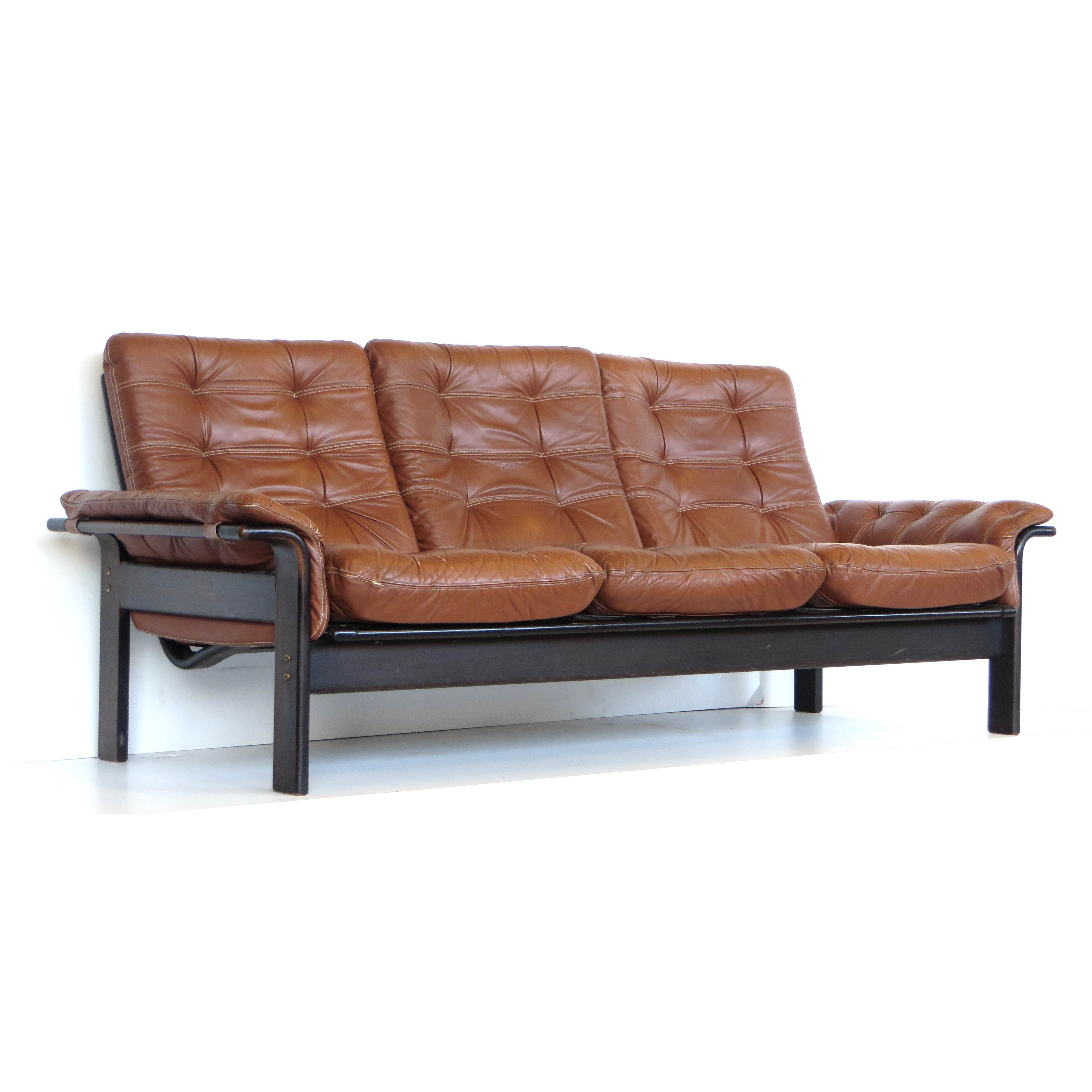 Vintage leather sofa by Coja