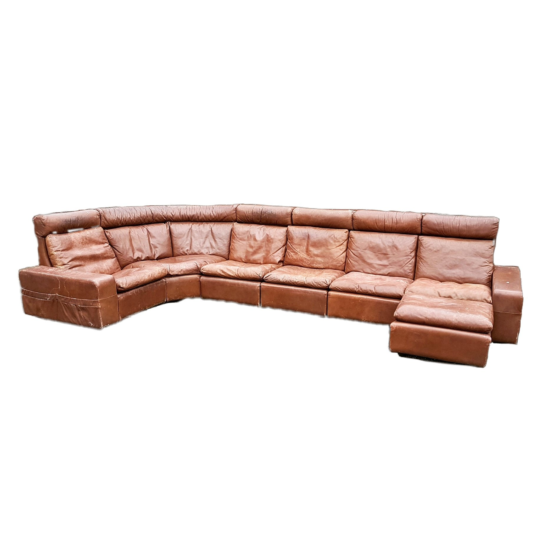 Excellent Xxl Leather Modular Corner Sofa With Ottoman 1970S 99785 Ncnpc Chair Design For Home Ncnpcorg