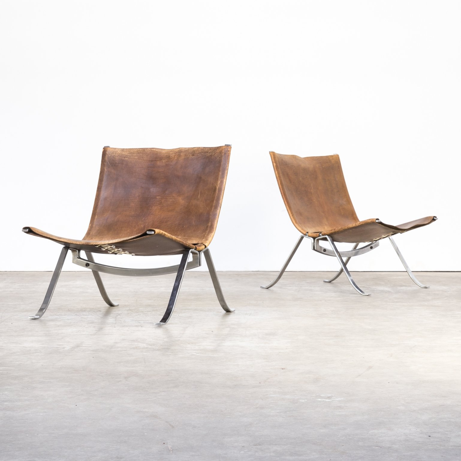 Pair Of Preben Fabricius Easy Chairs For Arnold Exclusive 1970s