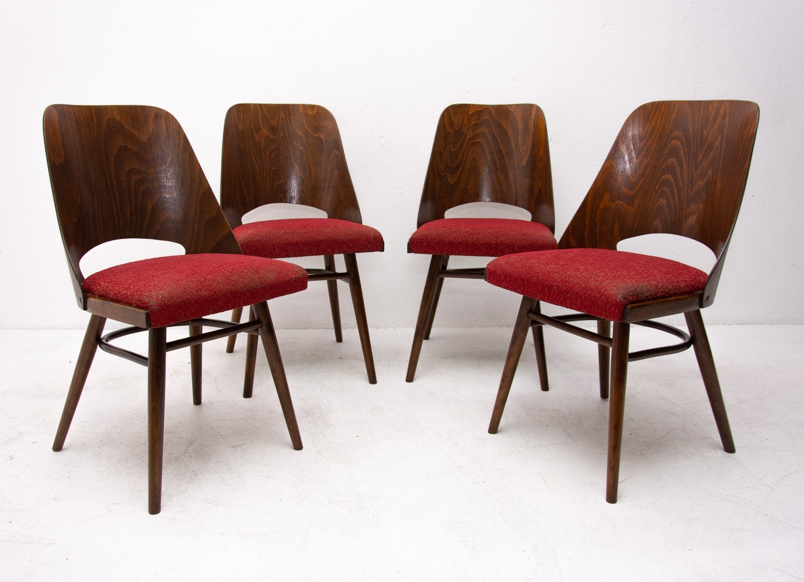 Image of: Set Of 4 Mid Century Bentwood Dining Chairs For Up Zavody 1960s 100304