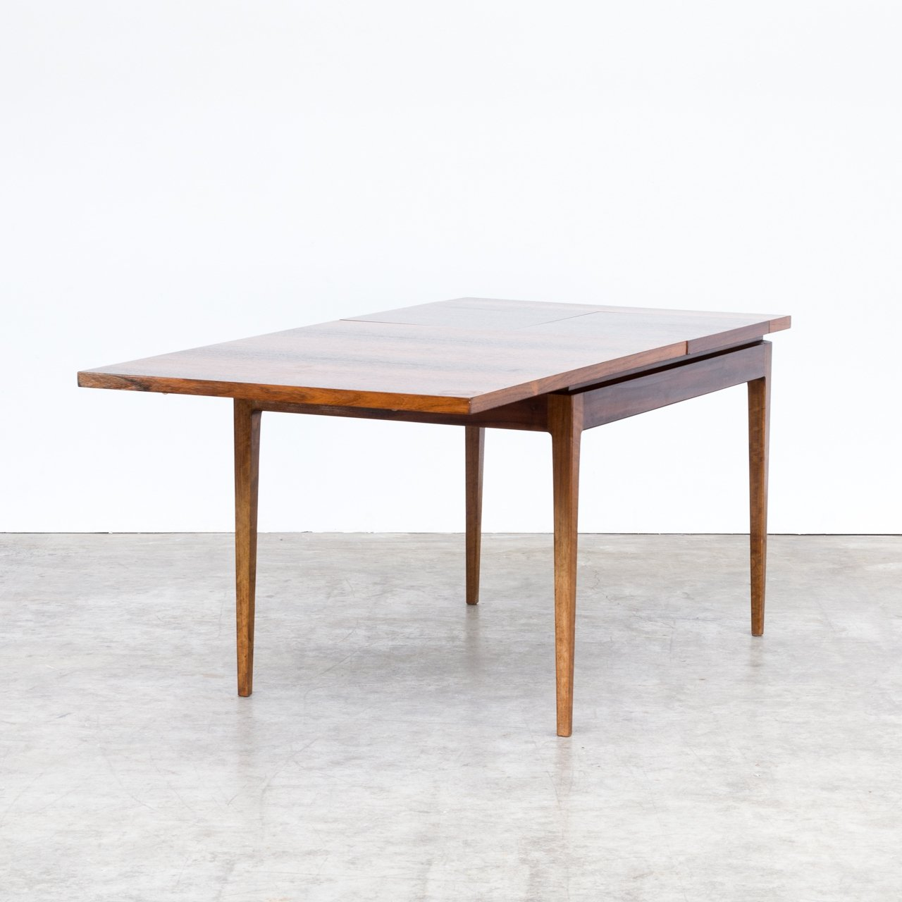 70s Wood Veneer One Side Extendable Dining Table 100619