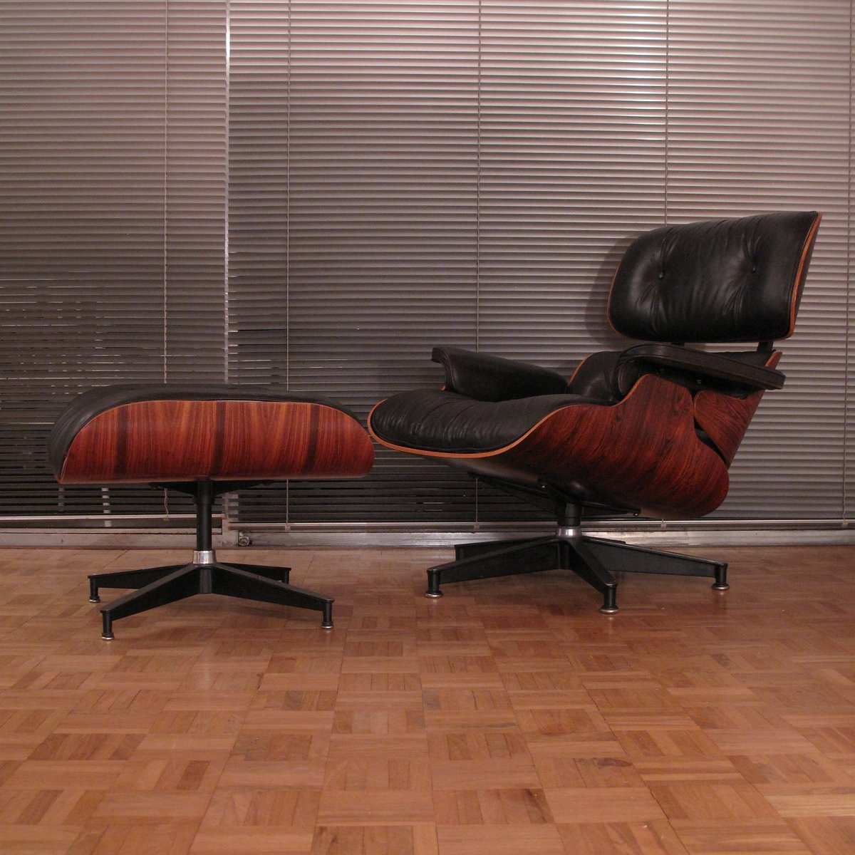 Admirable Vintage Rosewood Eames Lounge Chair Ottoman For Herman Gamerscity Chair Design For Home Gamerscityorg