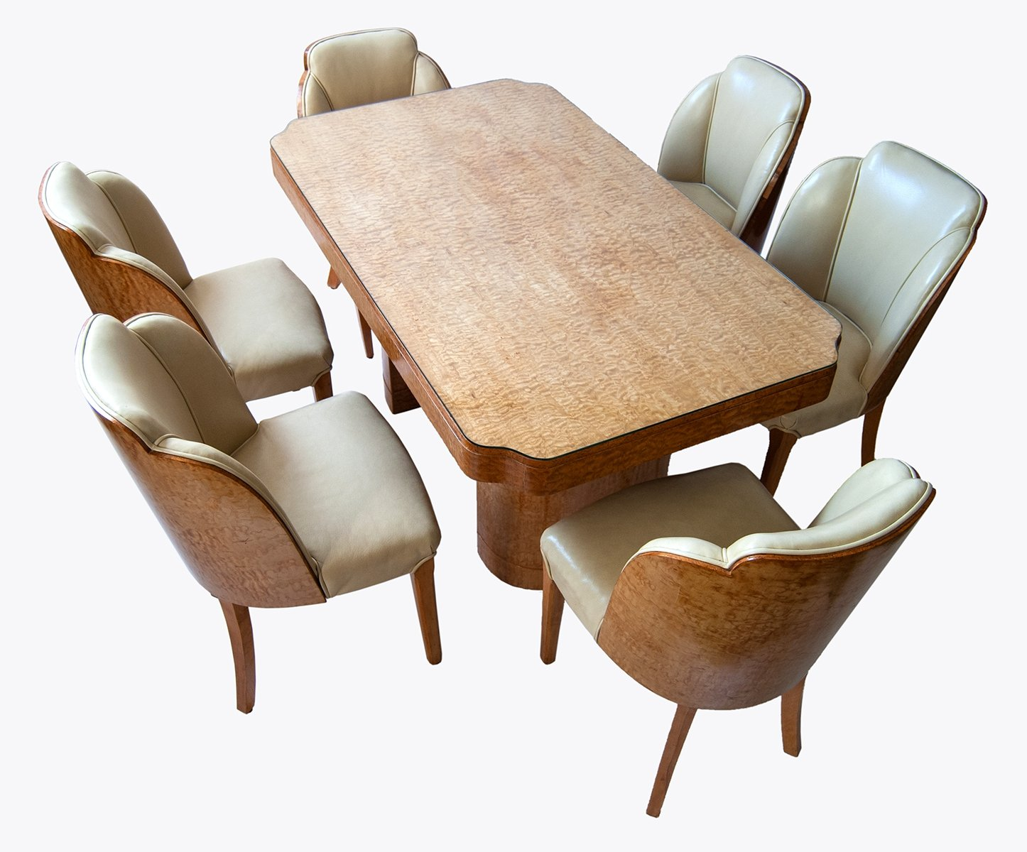 Art Deco Dining set by Harry & Lou Epstein, England 1930s