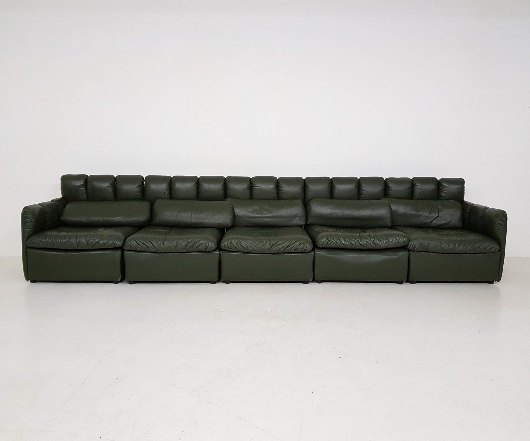 Outstanding Vintage Dark Green Leather Sectional Sofa 102171 Forskolin Free Trial Chair Design Images Forskolin Free Trialorg