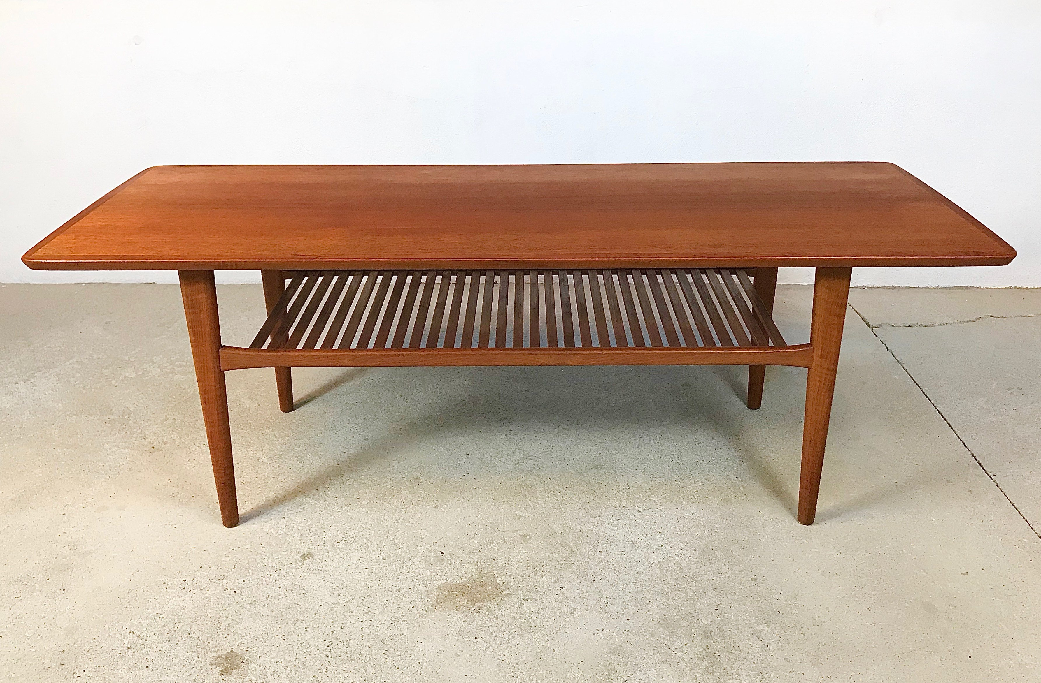 Vintage Danish Teak Coffee Table with Slatted Tray, 1960s ...