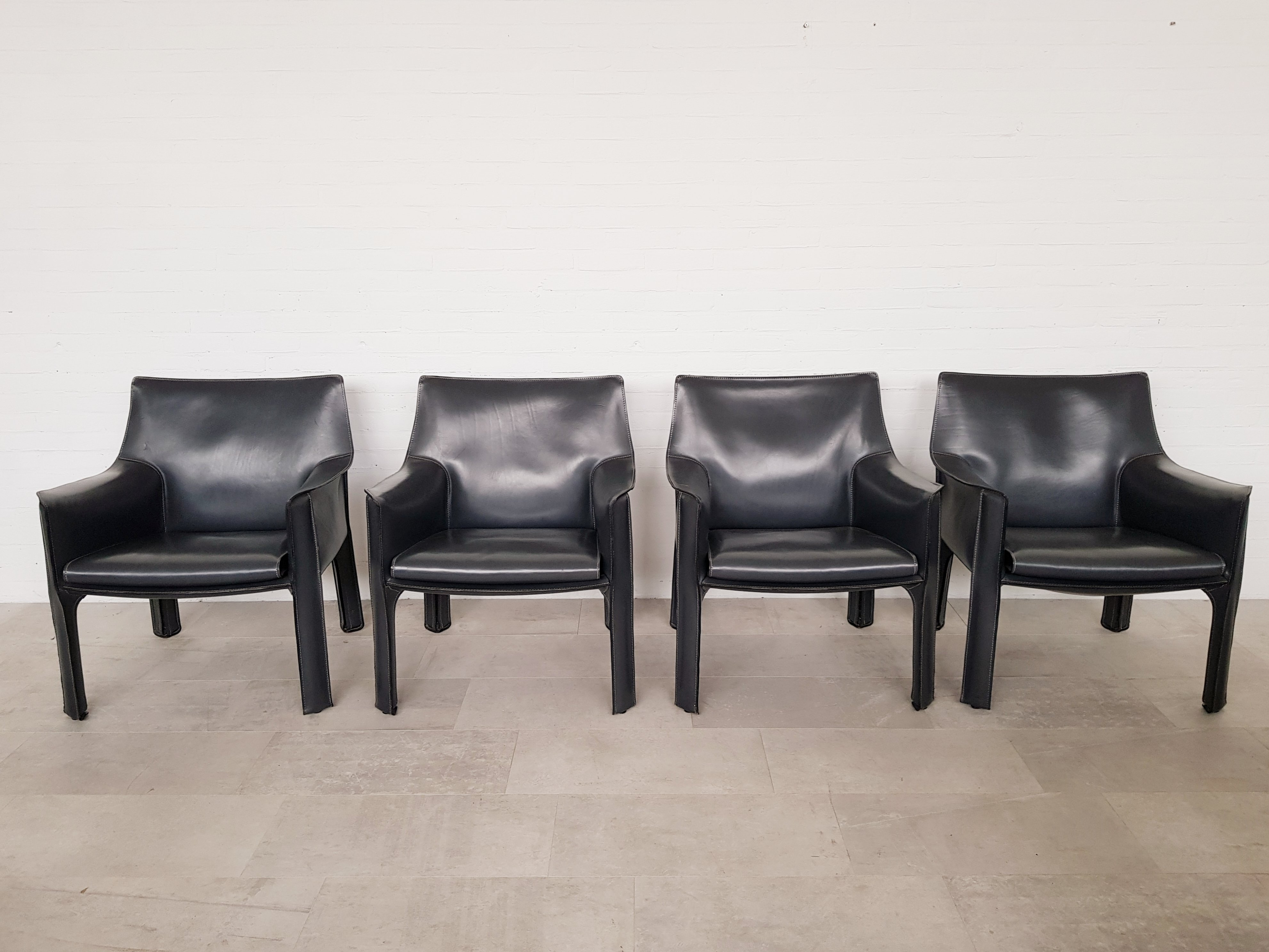 Pleasant Mario Bellini Cab 414 Chairs For Cassina In Dark Grey Ocoug Best Dining Table And Chair Ideas Images Ocougorg