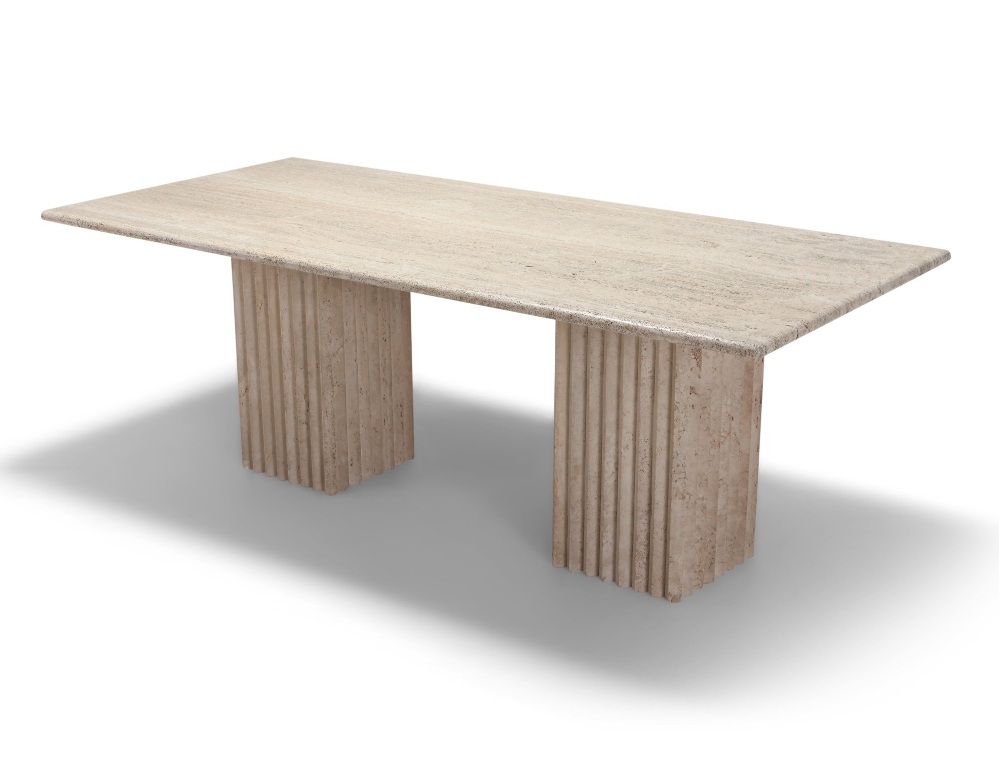 Travertine Dining Table 1970s 102634