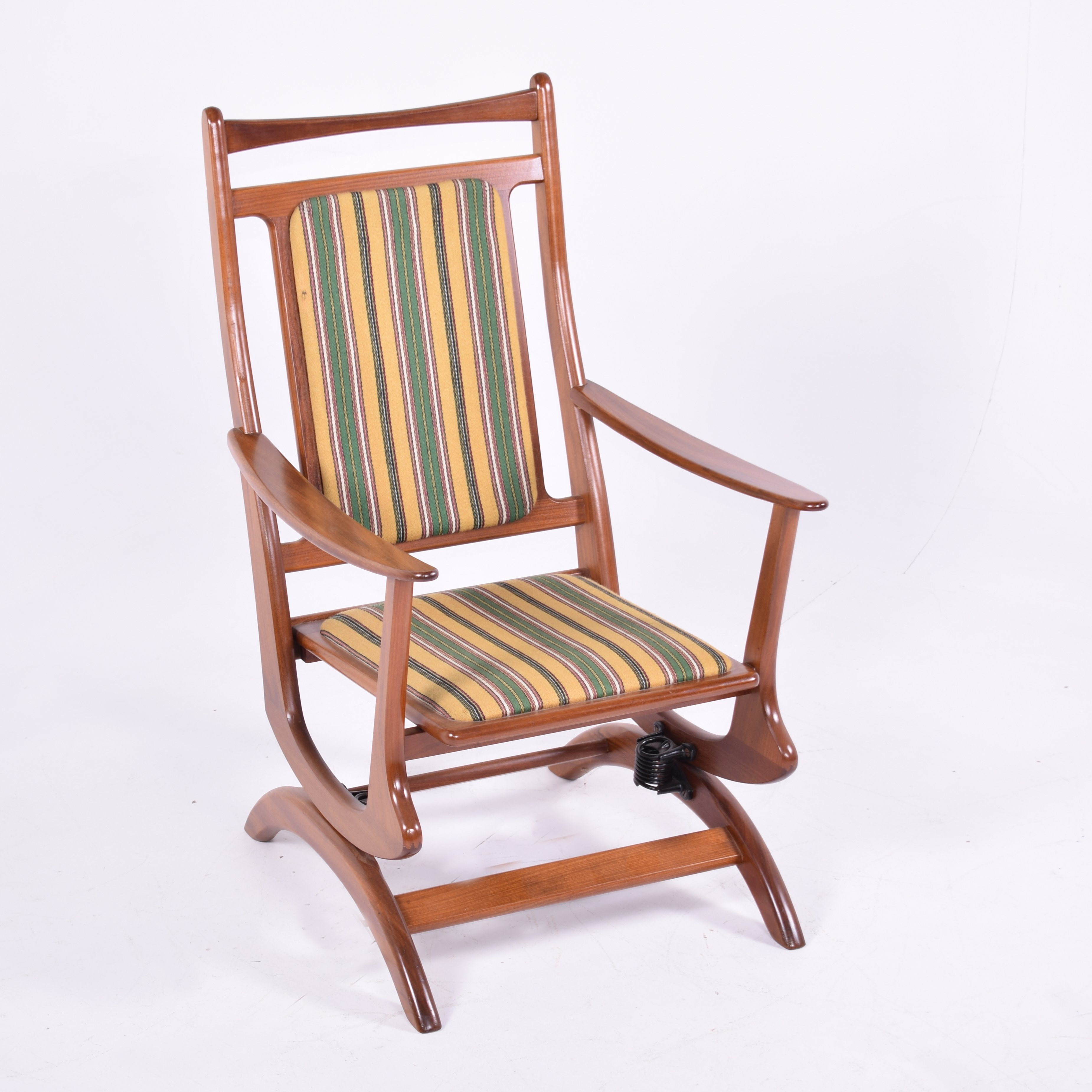 Marvelous Danish Teak Rocking Chair With Original Fabric Gmtry Best Dining Table And Chair Ideas Images Gmtryco