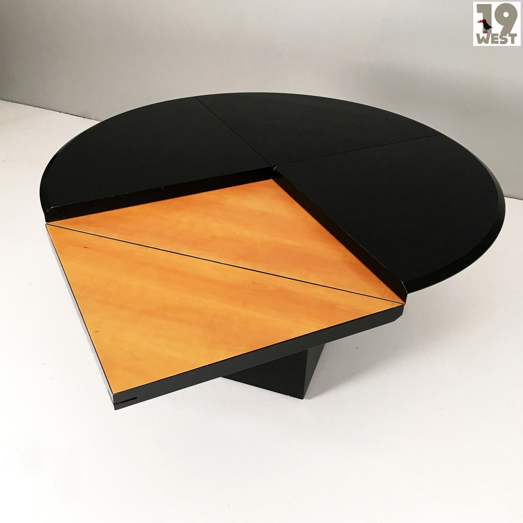 Round Square Dining Table Quadrondo Table By Erwin Nagel For Rosenthal 103433