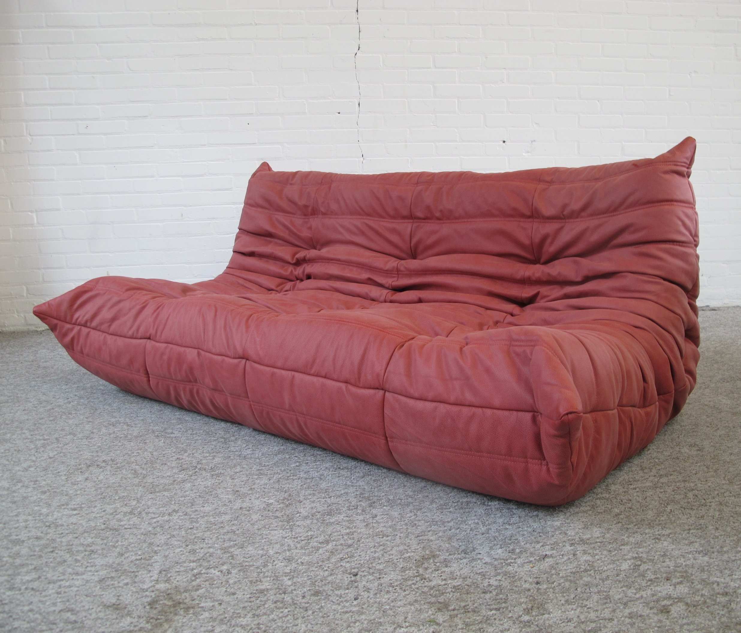 Leather Togo Sofa By Michel Ducaroy For