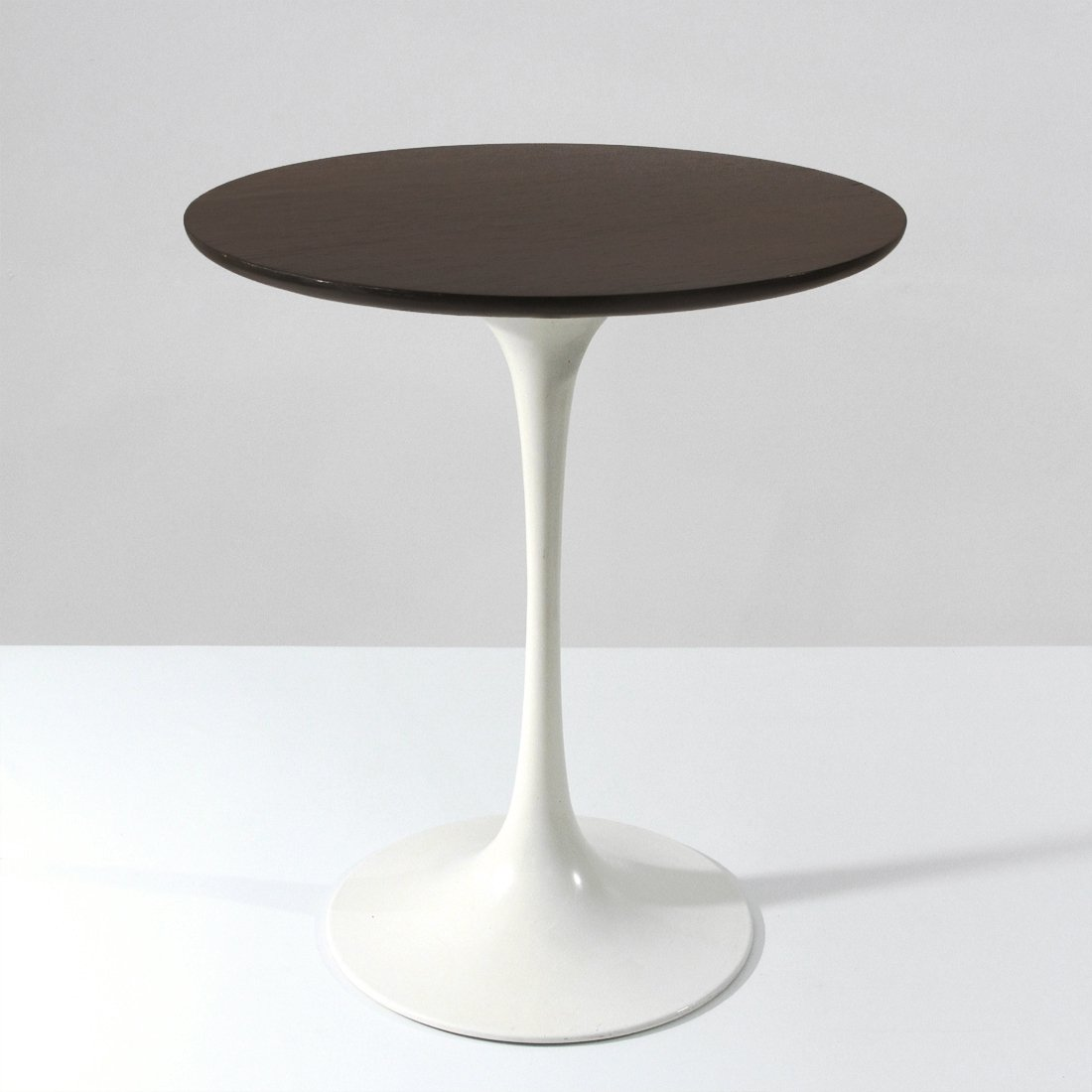 Midcentury Round Wooden Top Tulip Coffee Table By Arkana 1960s