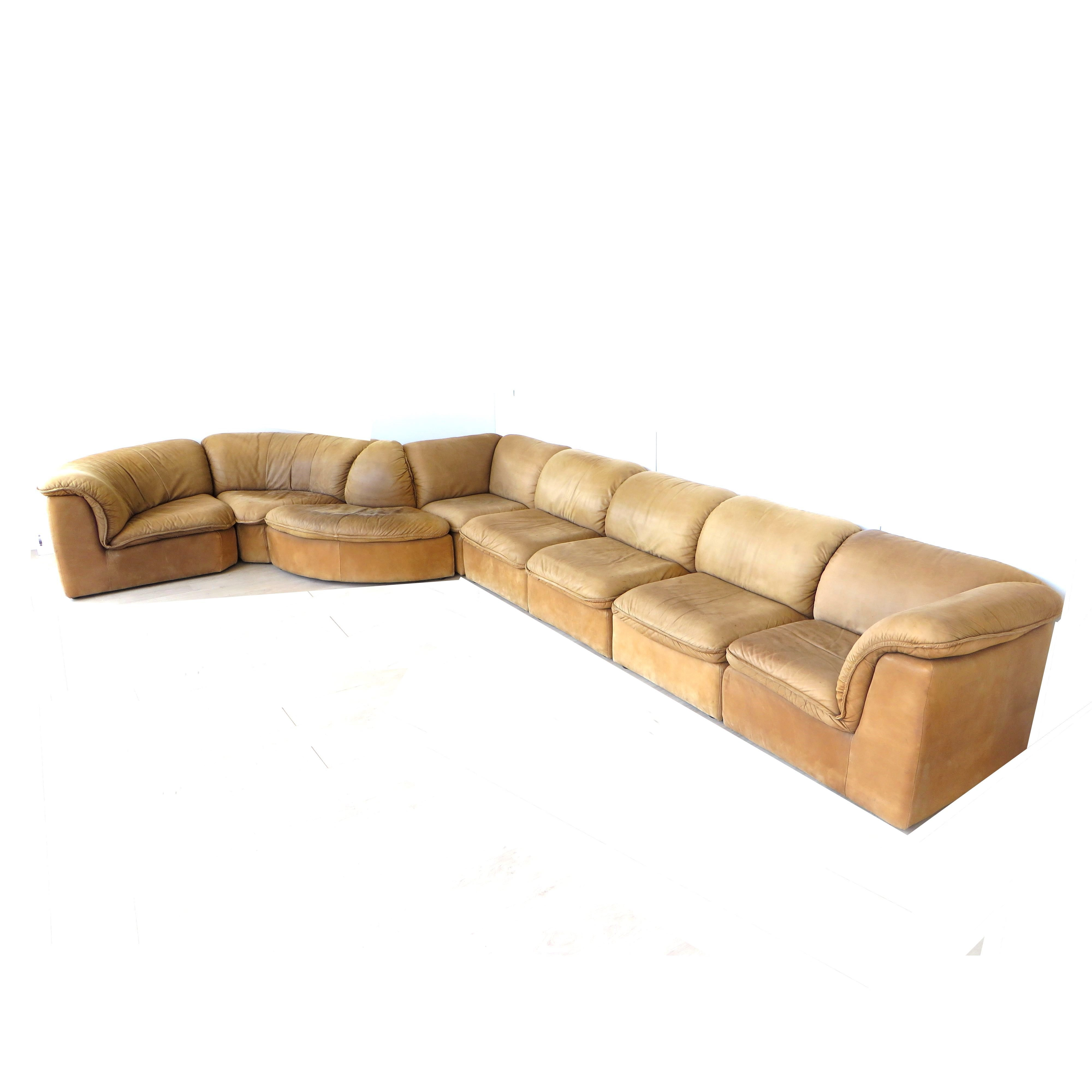 large vintage modular sofa by laauser
