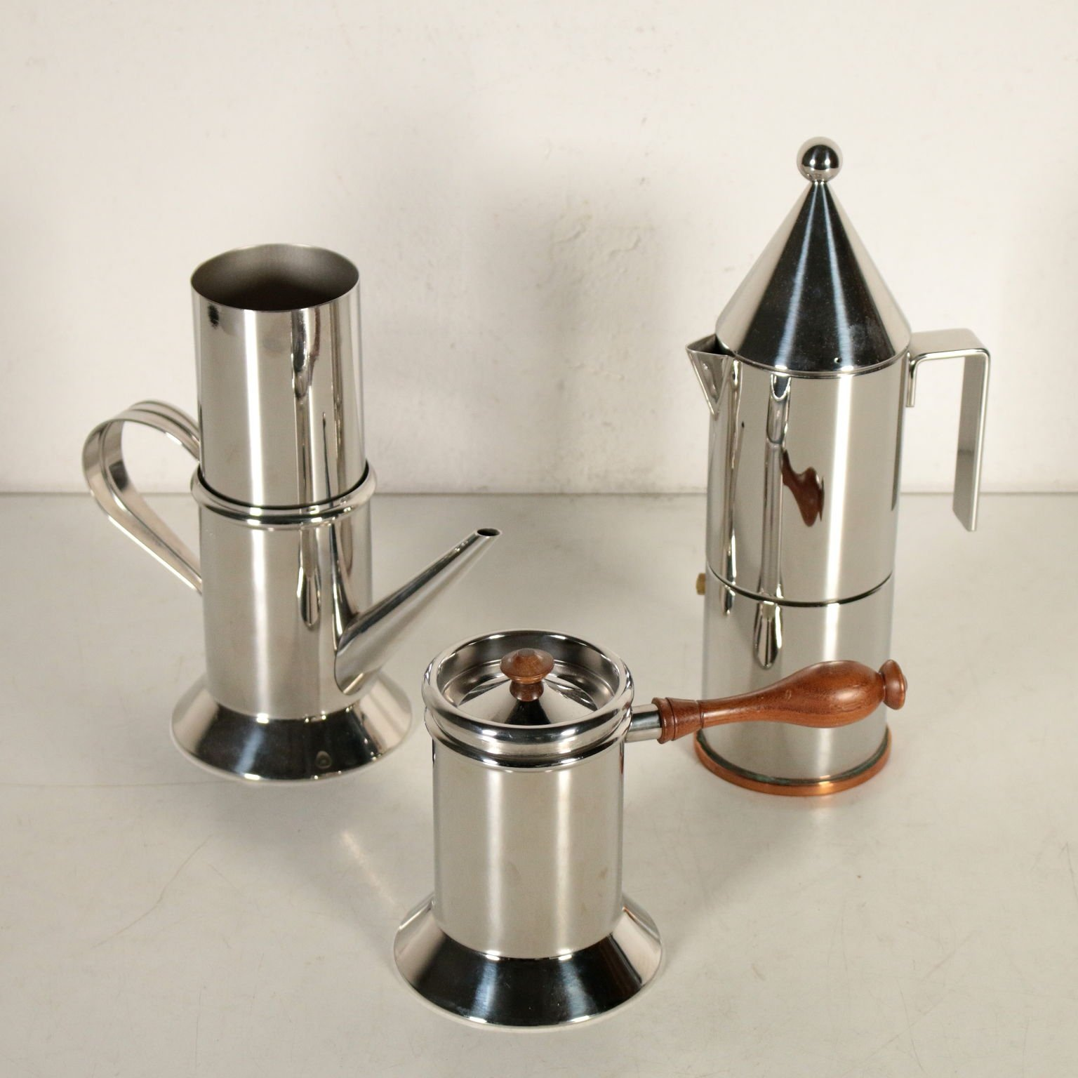 exclusive range authorized site new collection Coffee Maker Set by Aldo Rossi & Riccardo Dalisi for Officina Alessi, 1980s