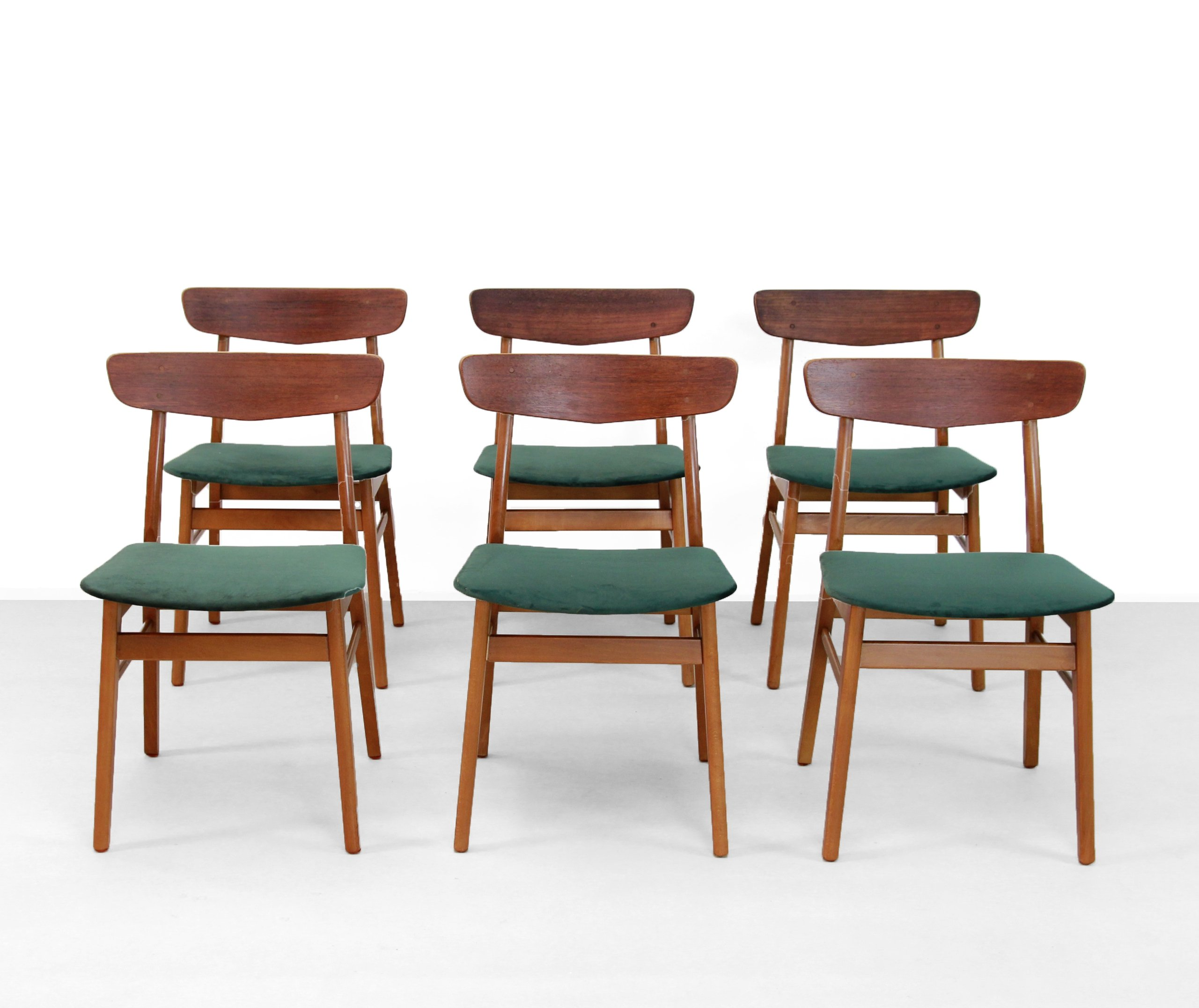 Terrific Set Of 6 Farstrup Dining Chairs 1960S Squirreltailoven Fun Painted Chair Ideas Images Squirreltailovenorg