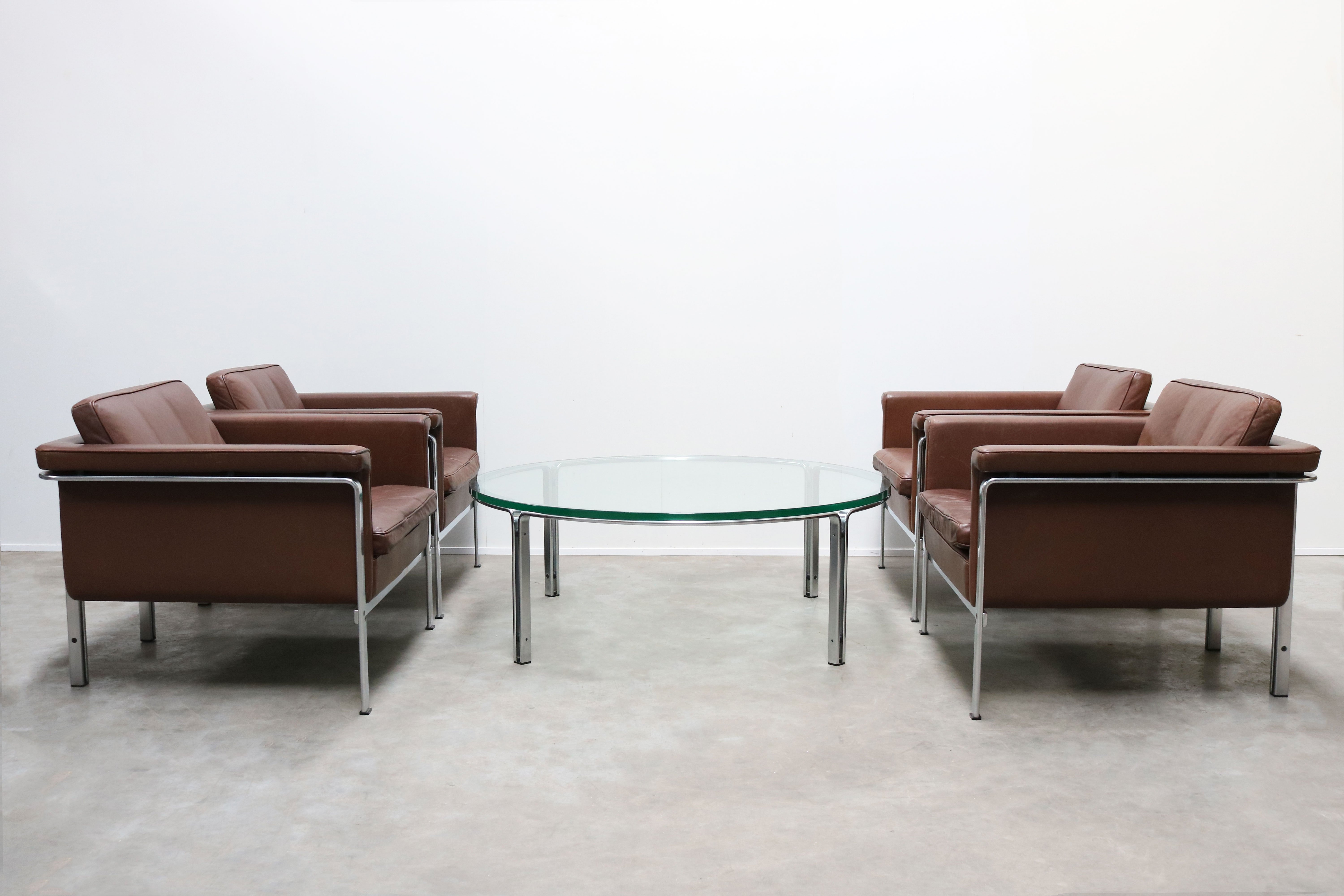 Rare Set Of Lounge Chairs Coffee Table By Horst Bruning For Kill International