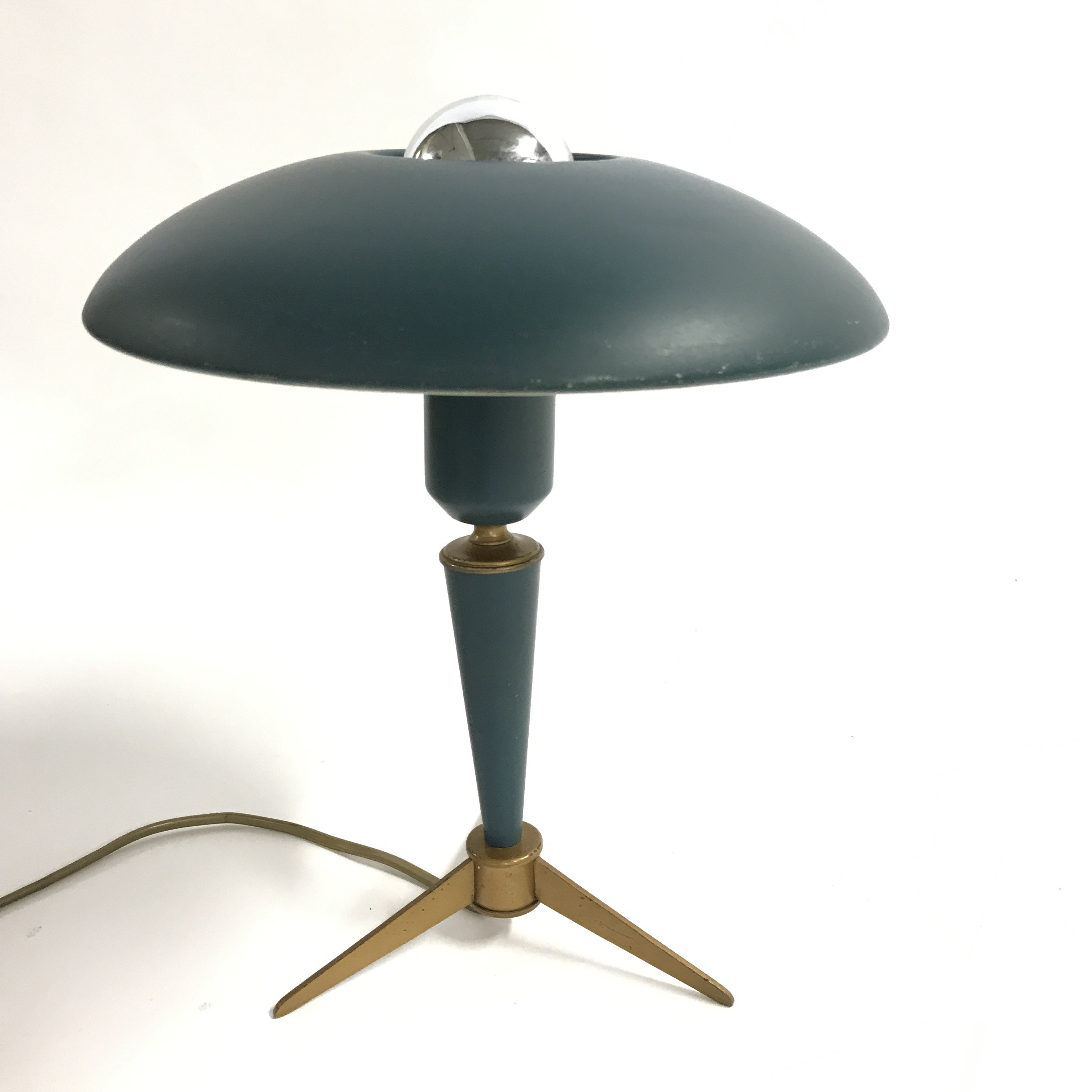 Vintage Mid Century Modern Tripod Table Lamp By Louis Kalff