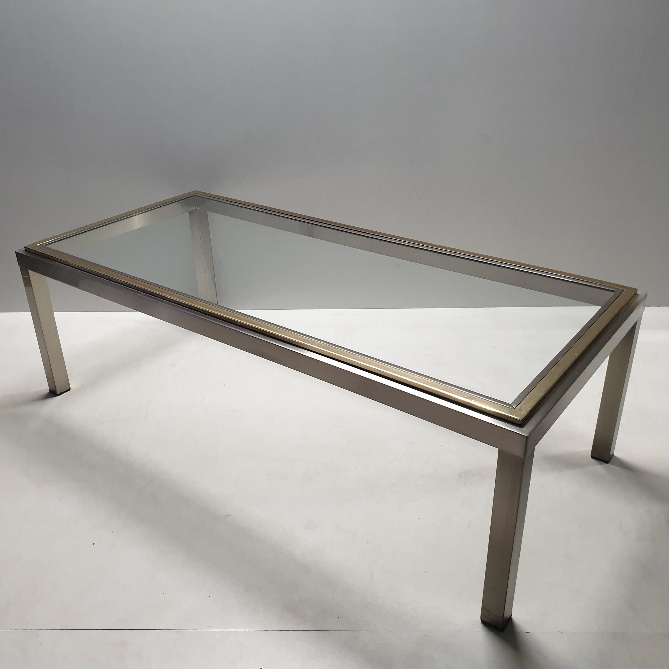 Glass Top Vintage Coffee Table 11