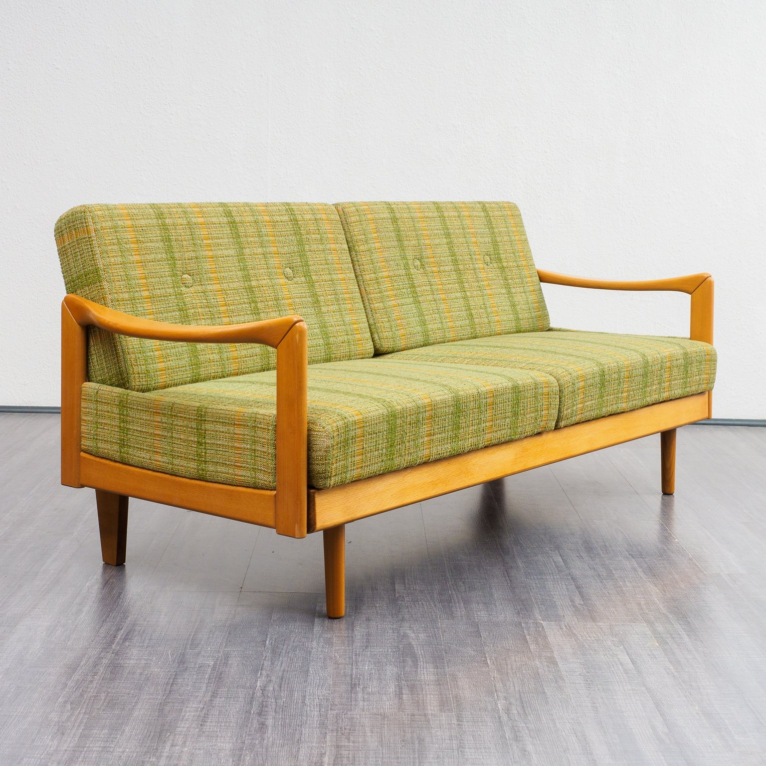 Pleasing Extendable Sofa Daybed In Solid Wood 1960S Uwap Interior Chair Design Uwaporg