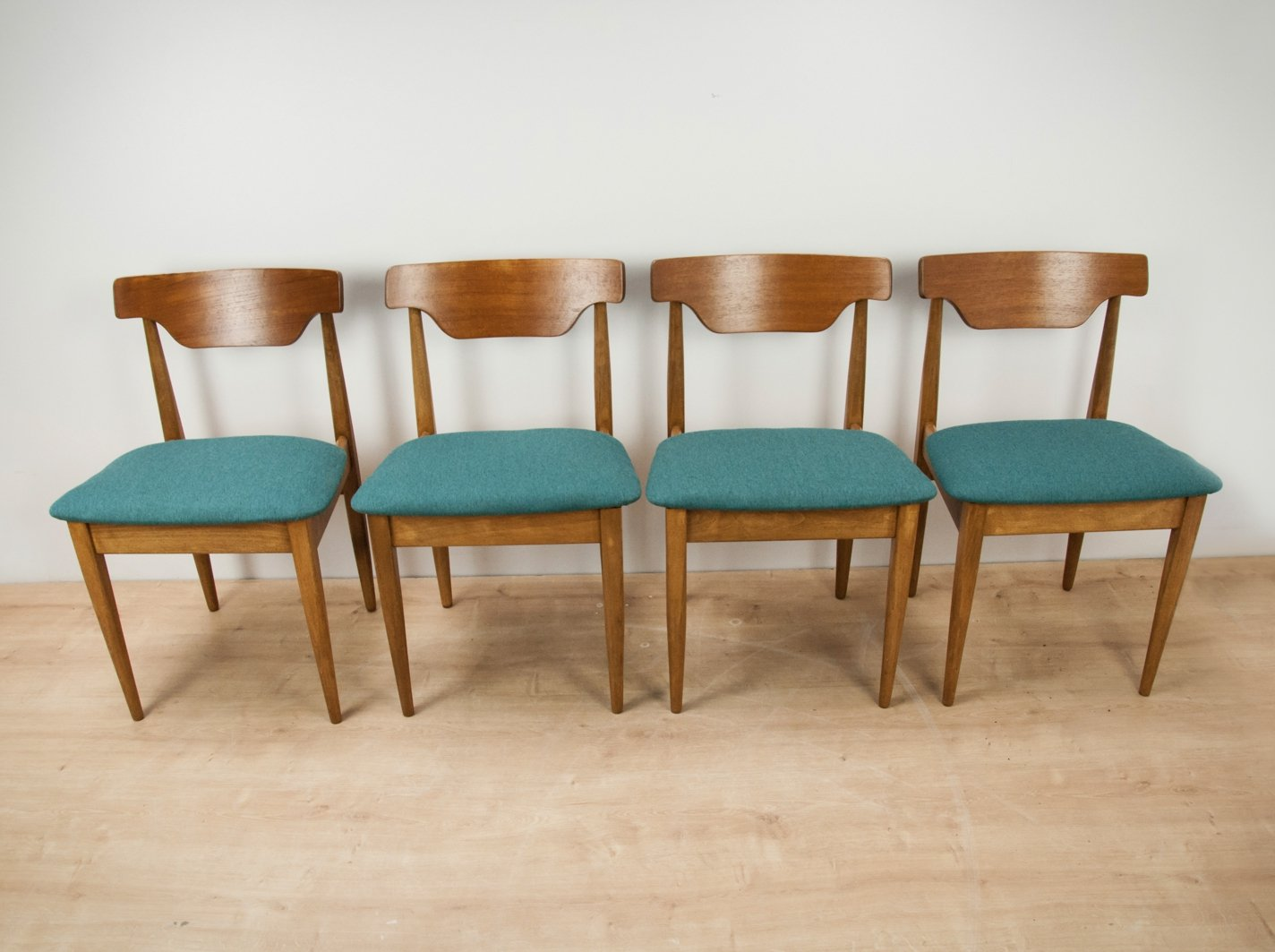 Set Of 4 Vintage Teak Dining Chairs 1960s 107463