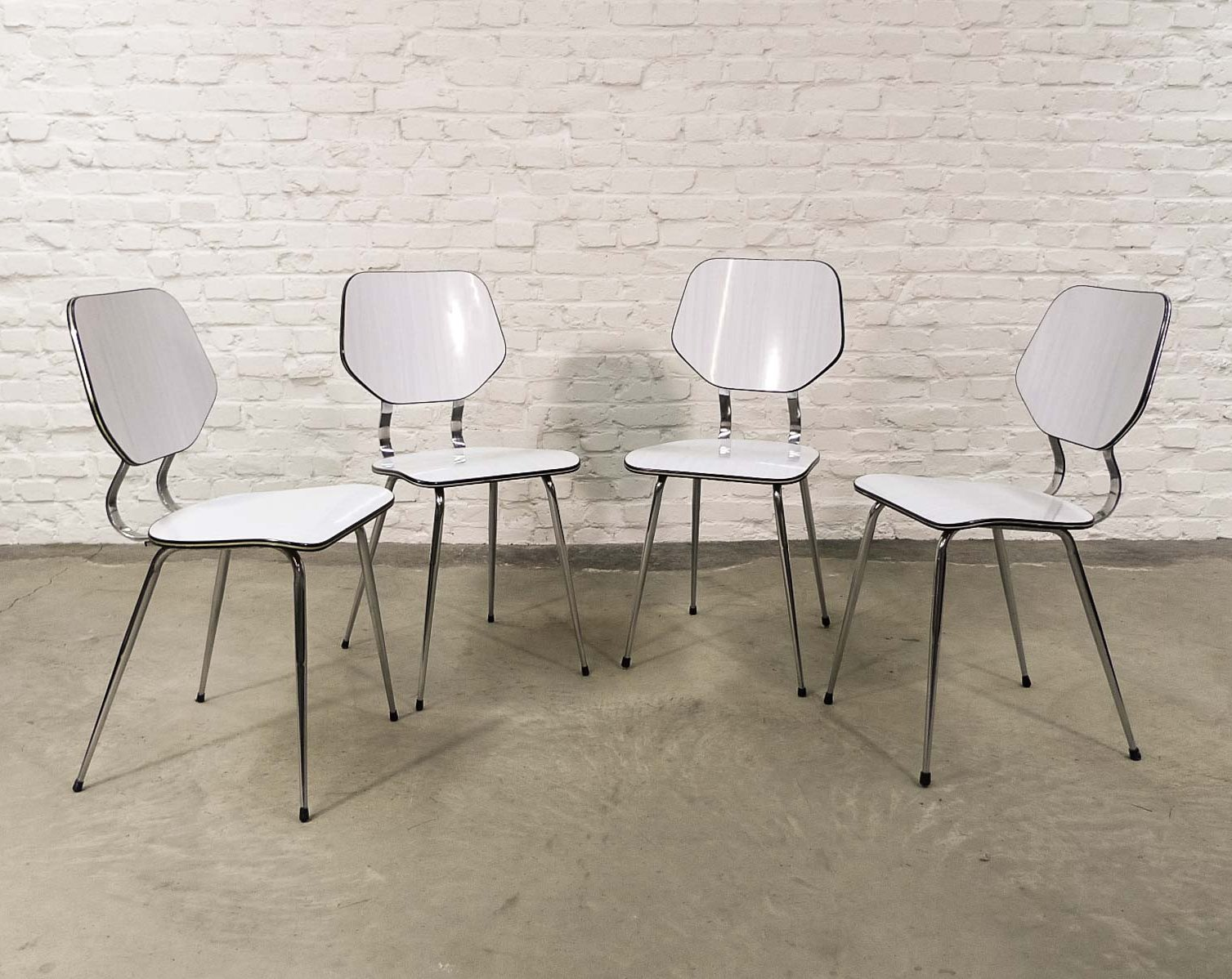 Set of 5 Vintage Design High Quality Brabantia Kitchen Chairs, 5s