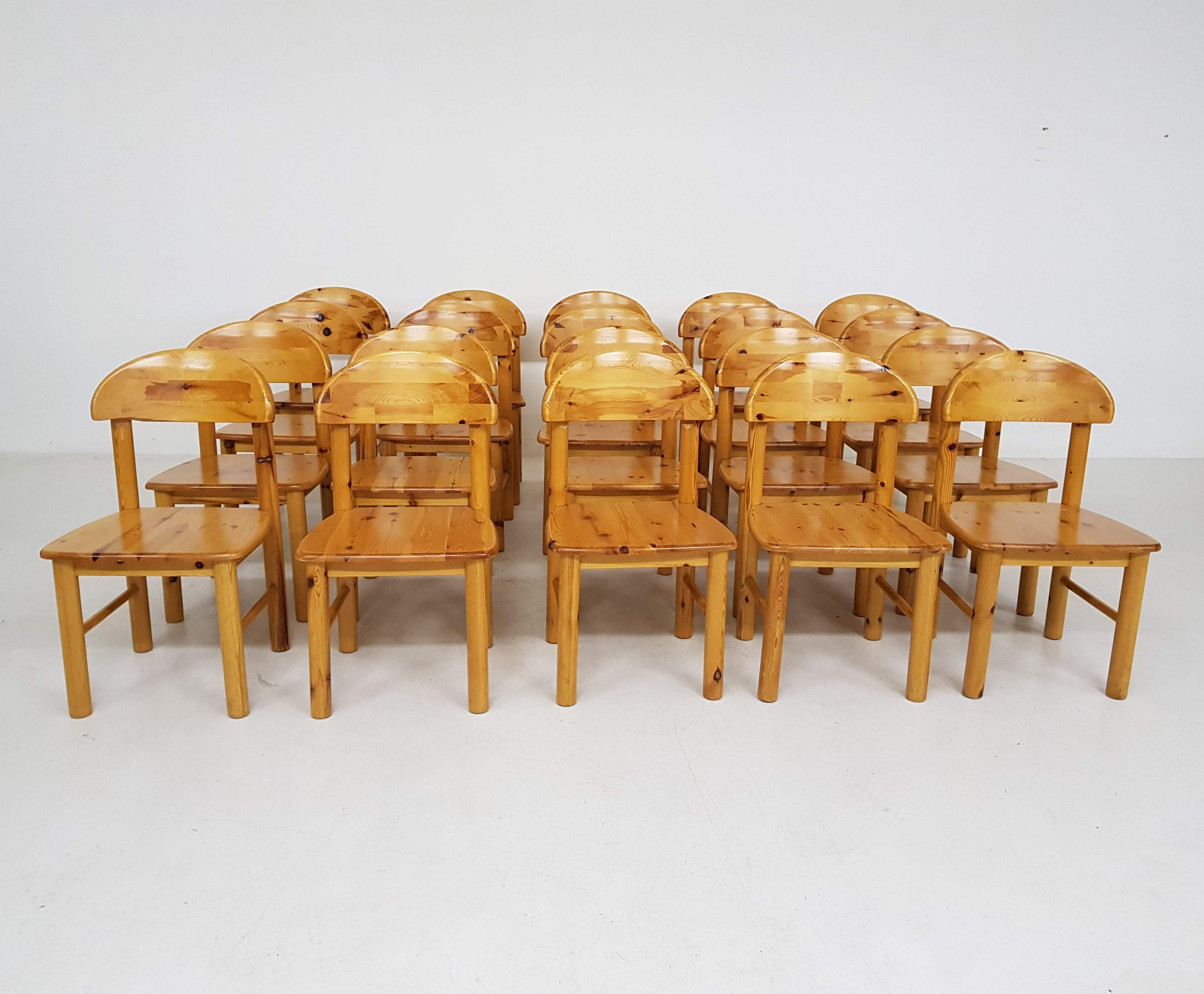 Enjoyable Set Of 20 Pinewood Dining Chairs By Rainer Daumiller 1970S Cjindustries Chair Design For Home Cjindustriesco