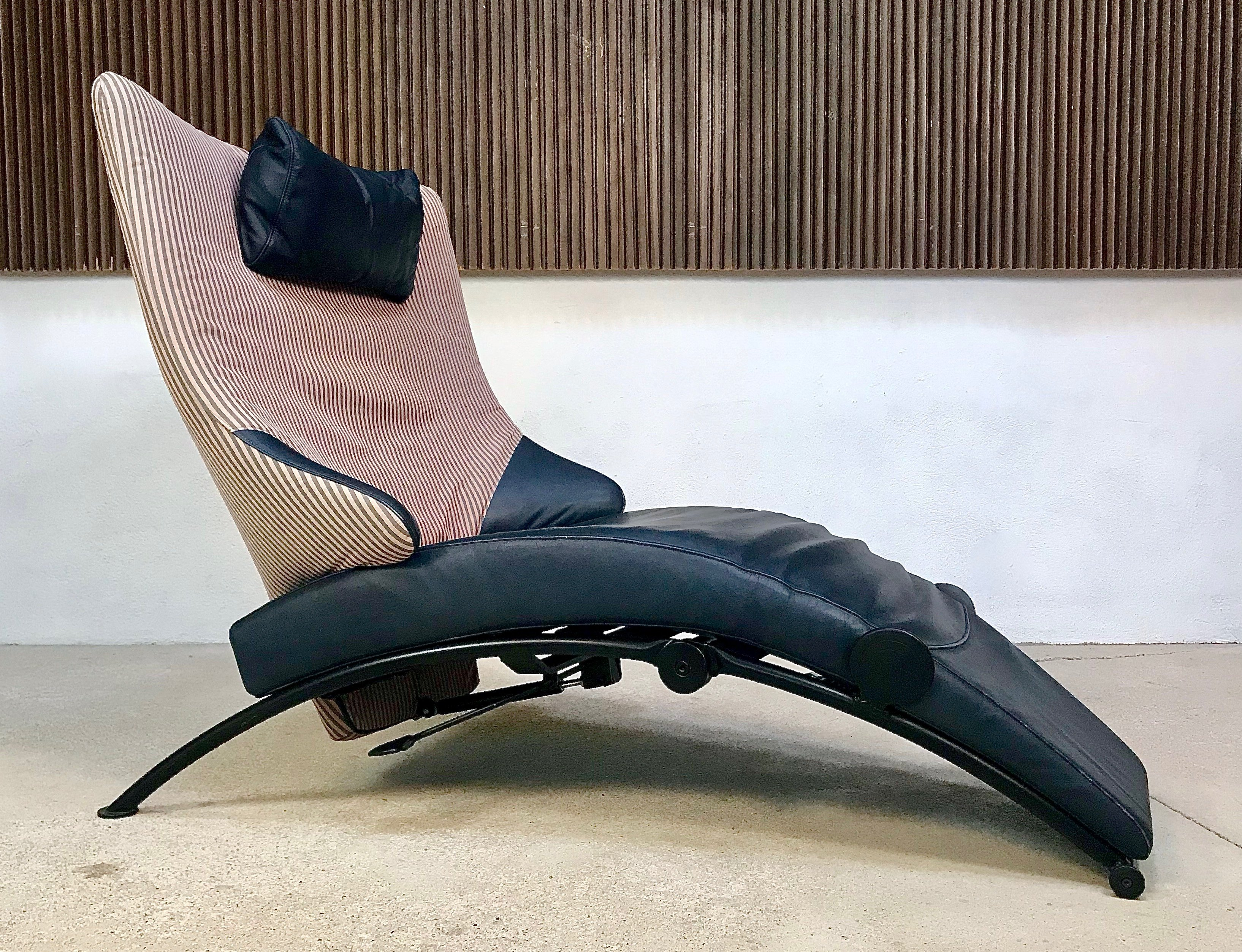 Astonishing Solo 699 Leather Cotton Lounge Chair By Stefan Heiliger For Wk Wohnen 1980S Caraccident5 Cool Chair Designs And Ideas Caraccident5Info