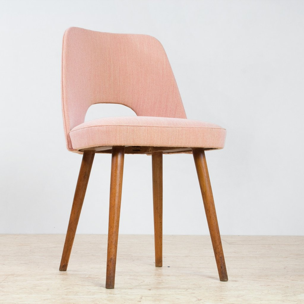 Stupendous Set Of 8 Mid Century Modern Dining Chairs In Beech By Oswald Short Links Chair Design For Home Short Linksinfo