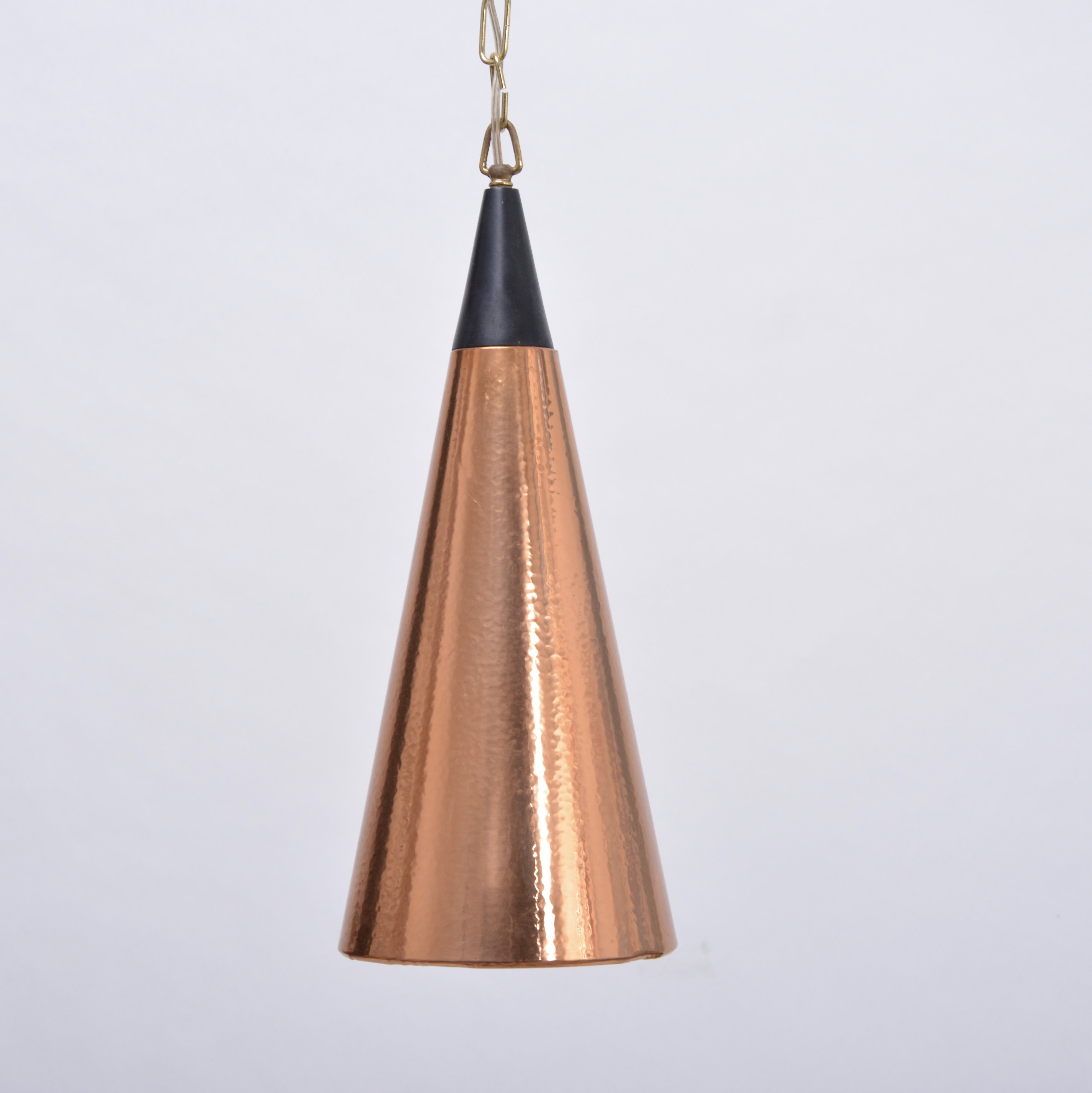 Vintage Scandinavian Cone Shaped Copper