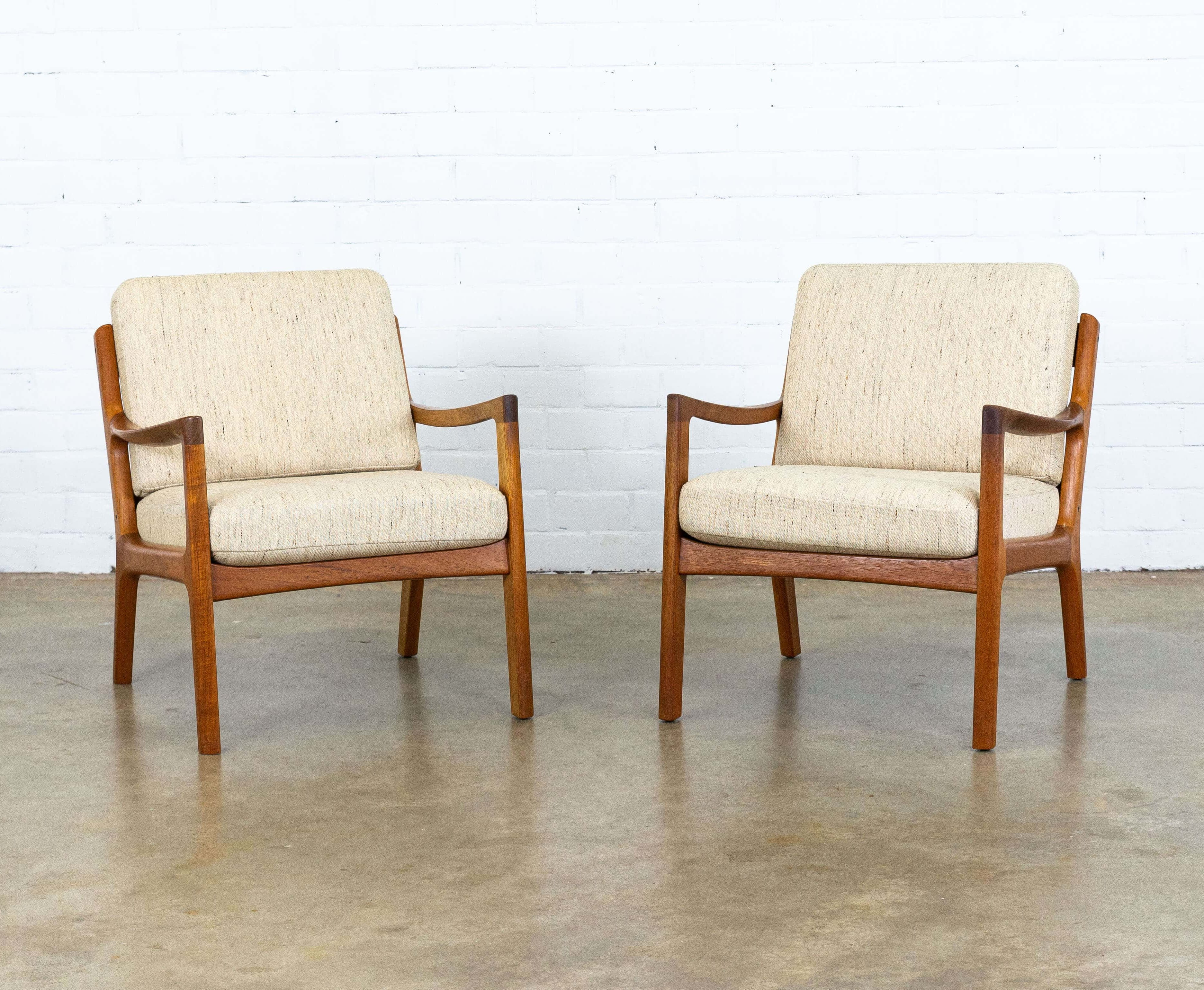 Super Pair Of Senator Arm Chairs By Ole Wanscher For France Son 1950S Gmtry Best Dining Table And Chair Ideas Images Gmtryco