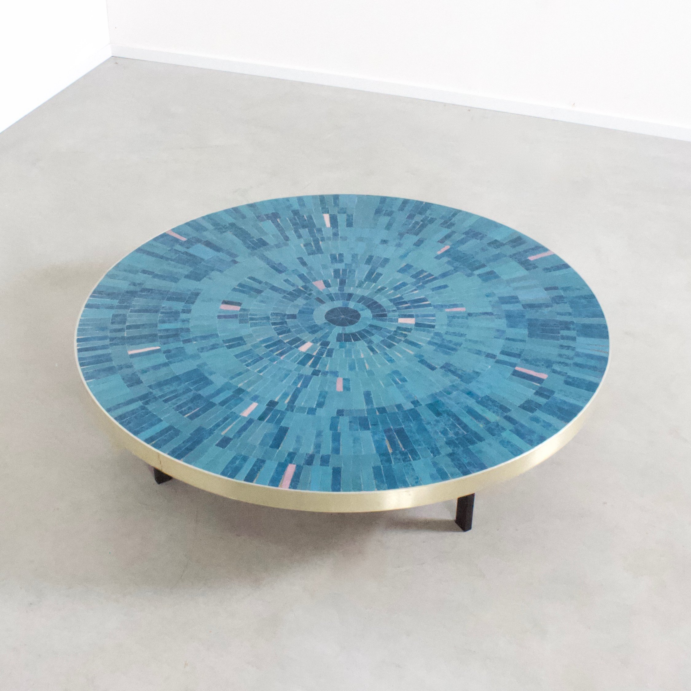 Fabulous Impressive Round Mosaic Tile Coffee Table By Berthold Muller Ocoug Best Dining Table And Chair Ideas Images Ocougorg