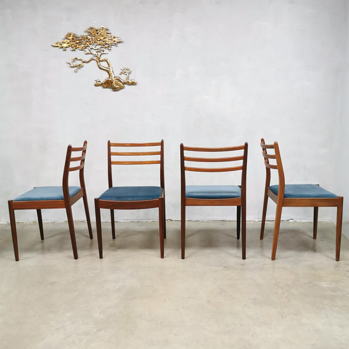 Marvelous Set Of 4 Vintage Design Dining Chairs By Victor Wilkens For G Plan Dailytribune Chair Design For Home Dailytribuneorg