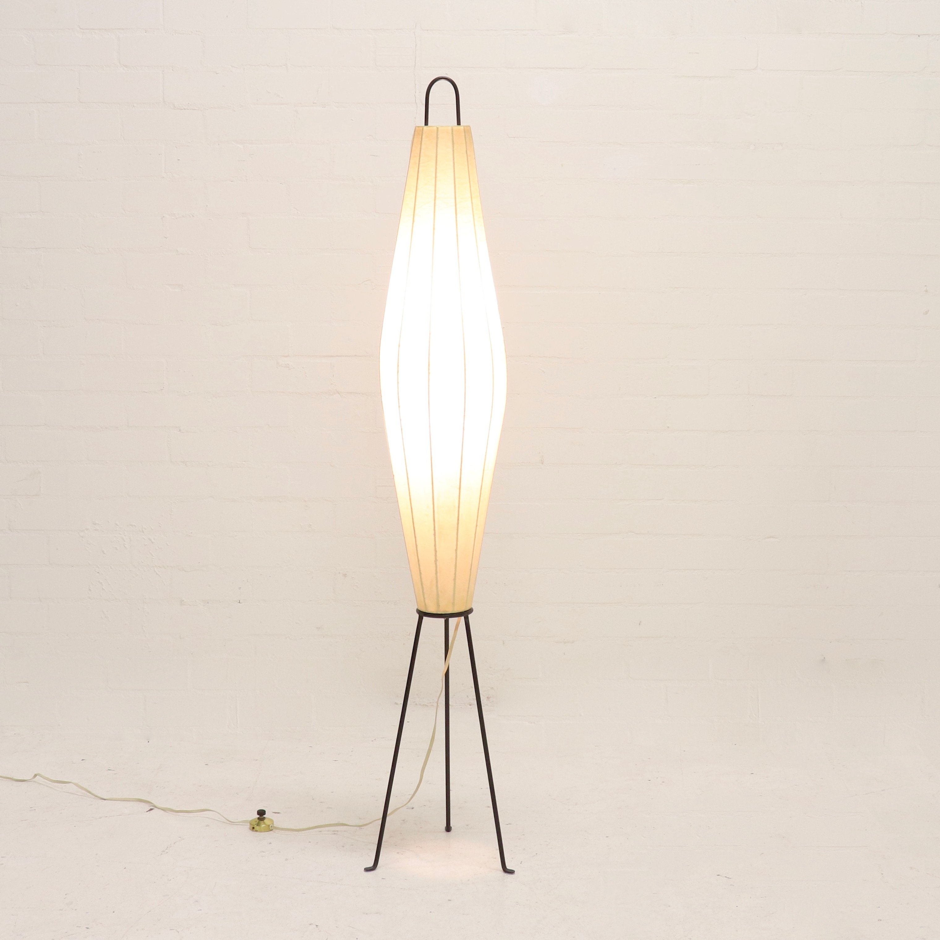 Large Artimeta Lugano Floor Lamp By H Klingele 1950s 110960