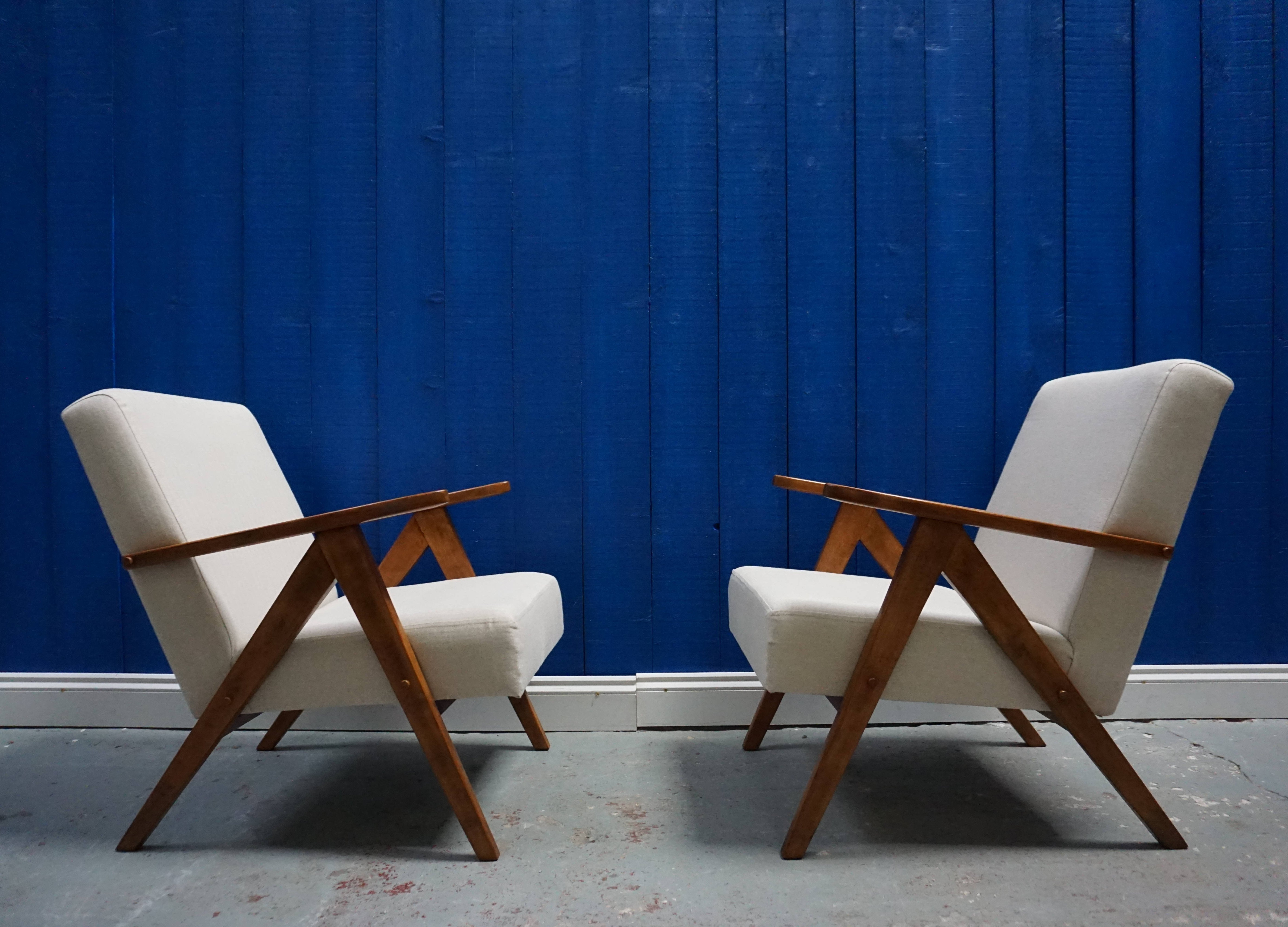 Amazing Model B 310 Var Mid Century Modern Easy Chairs In Tweed 1960 Beatyapartments Chair Design Images Beatyapartmentscom