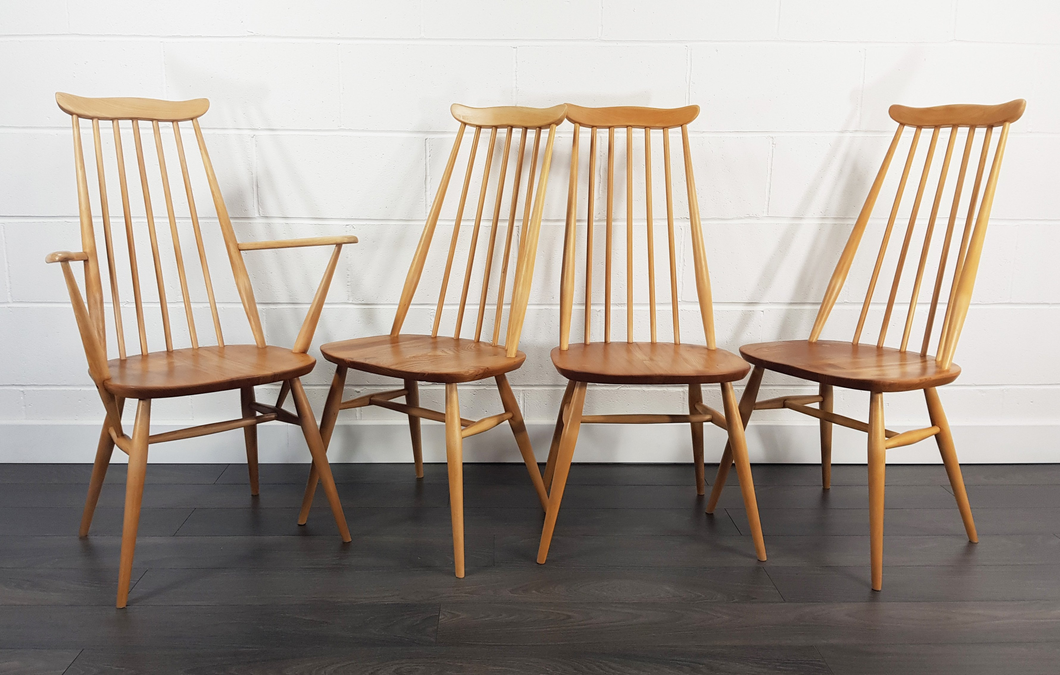 Mid Century Goldsmith Dining Chairs 1 Carver By Lucian Ercolani For Ercol 111959