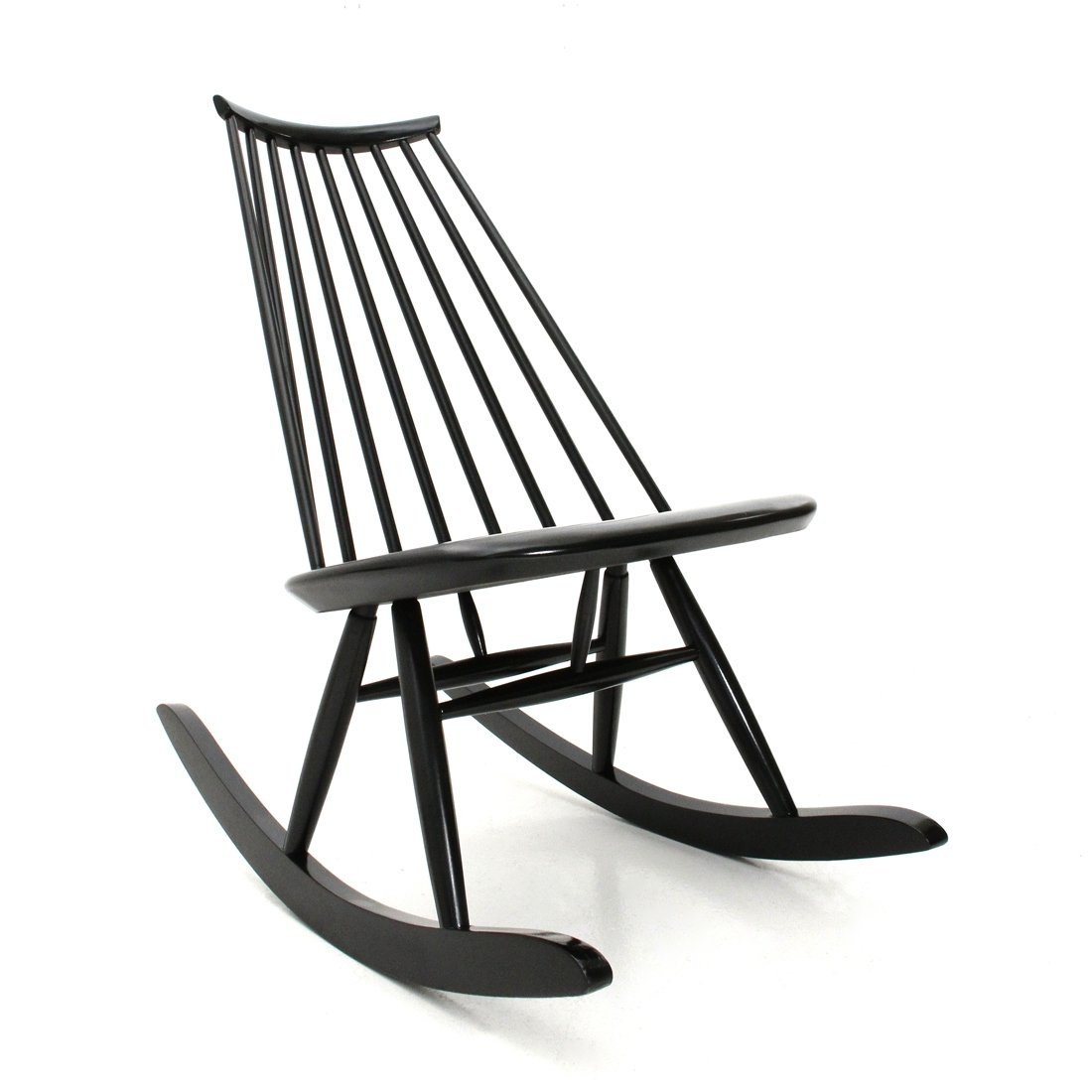 Groovy Midcentury Modern Black Mademoiselle Rocking Chair By Ilmari Tapiovaara For Artek 1950S Creativecarmelina Interior Chair Design Creativecarmelinacom